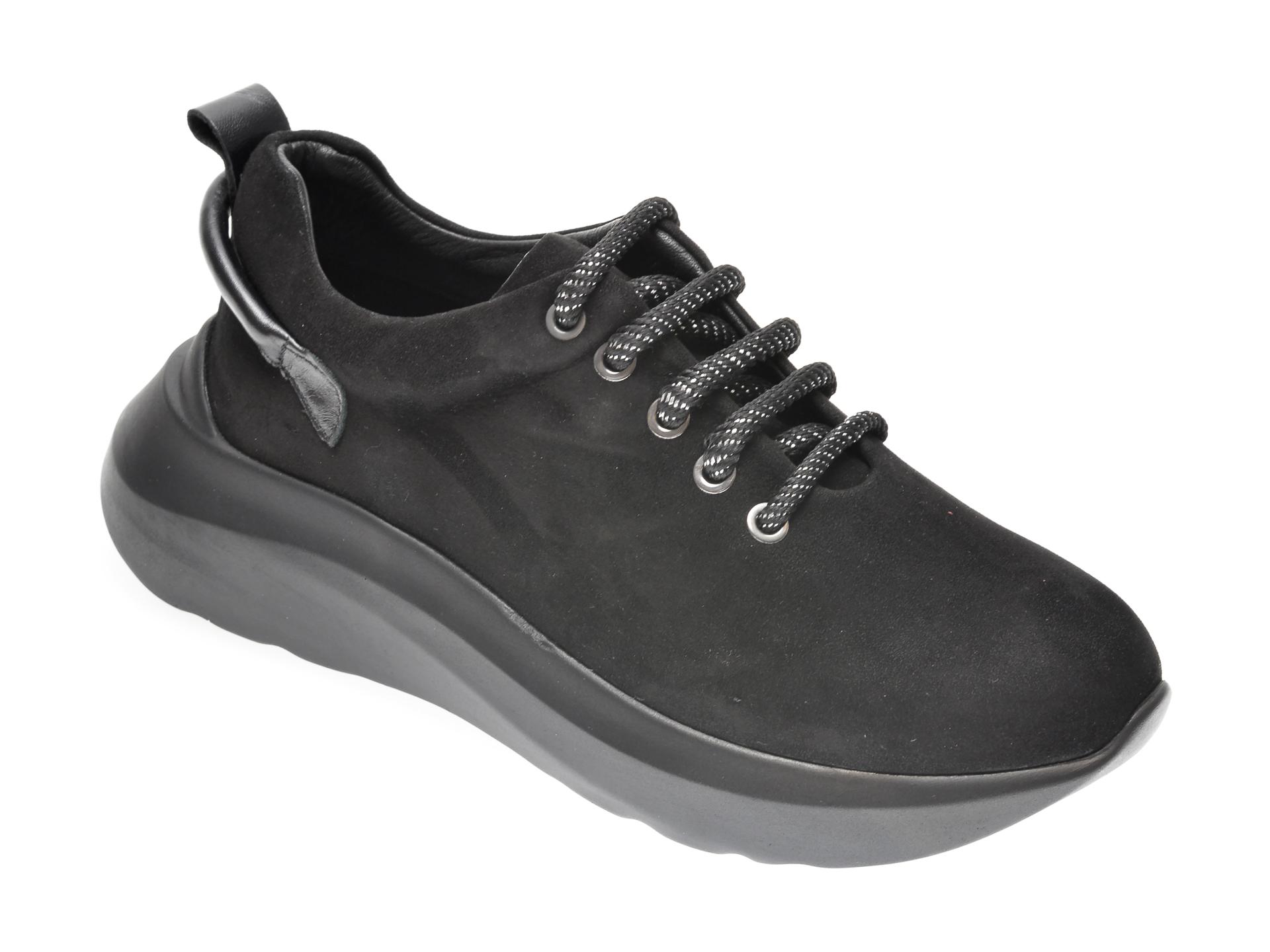 Pantofi FLAVIA PASSINI negri, 6382300, din piele intoarsa