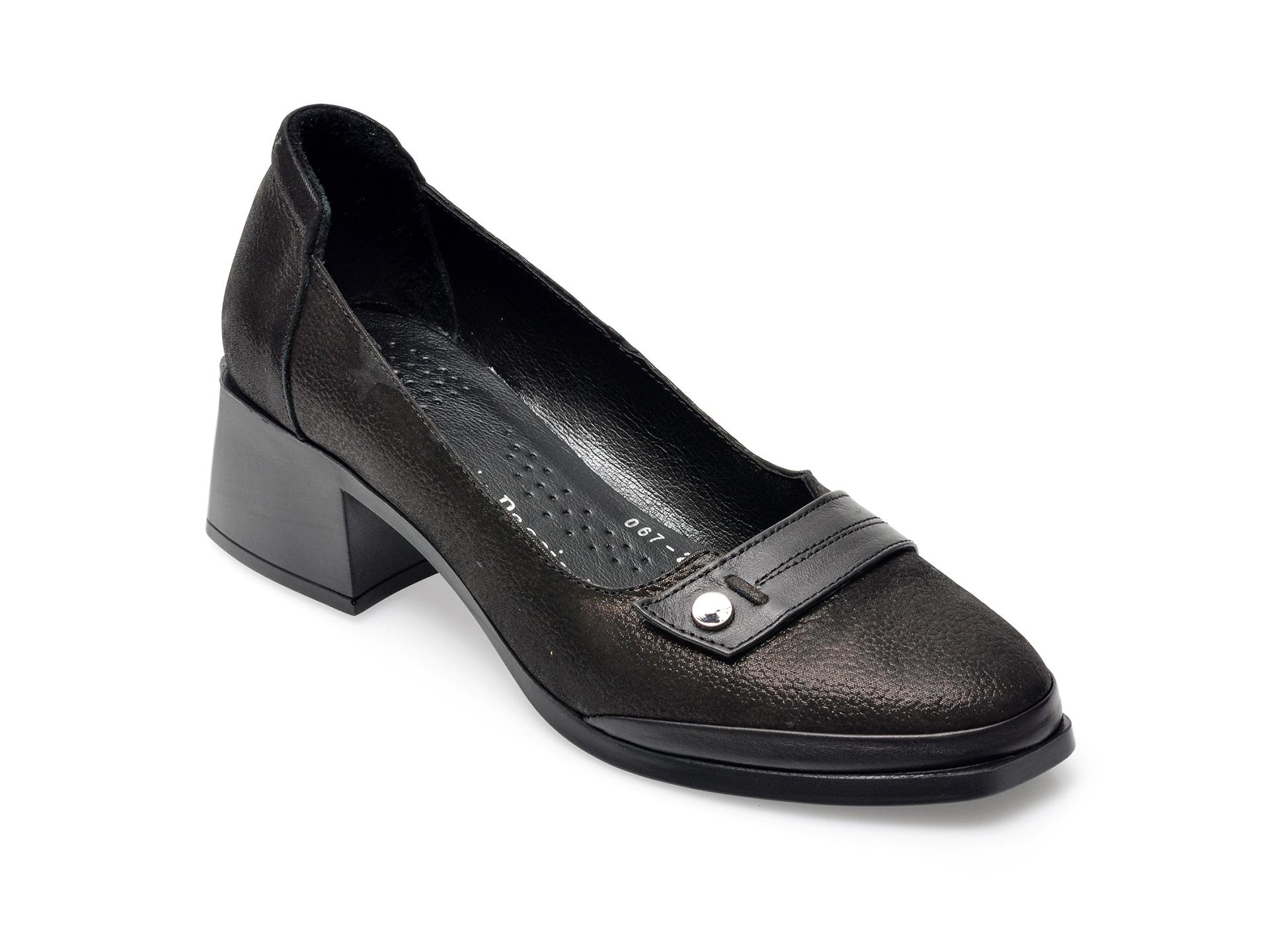 Pantofi FLAVIA PASSINI negri, 672040, din nabuc imagine otter.ro 2021