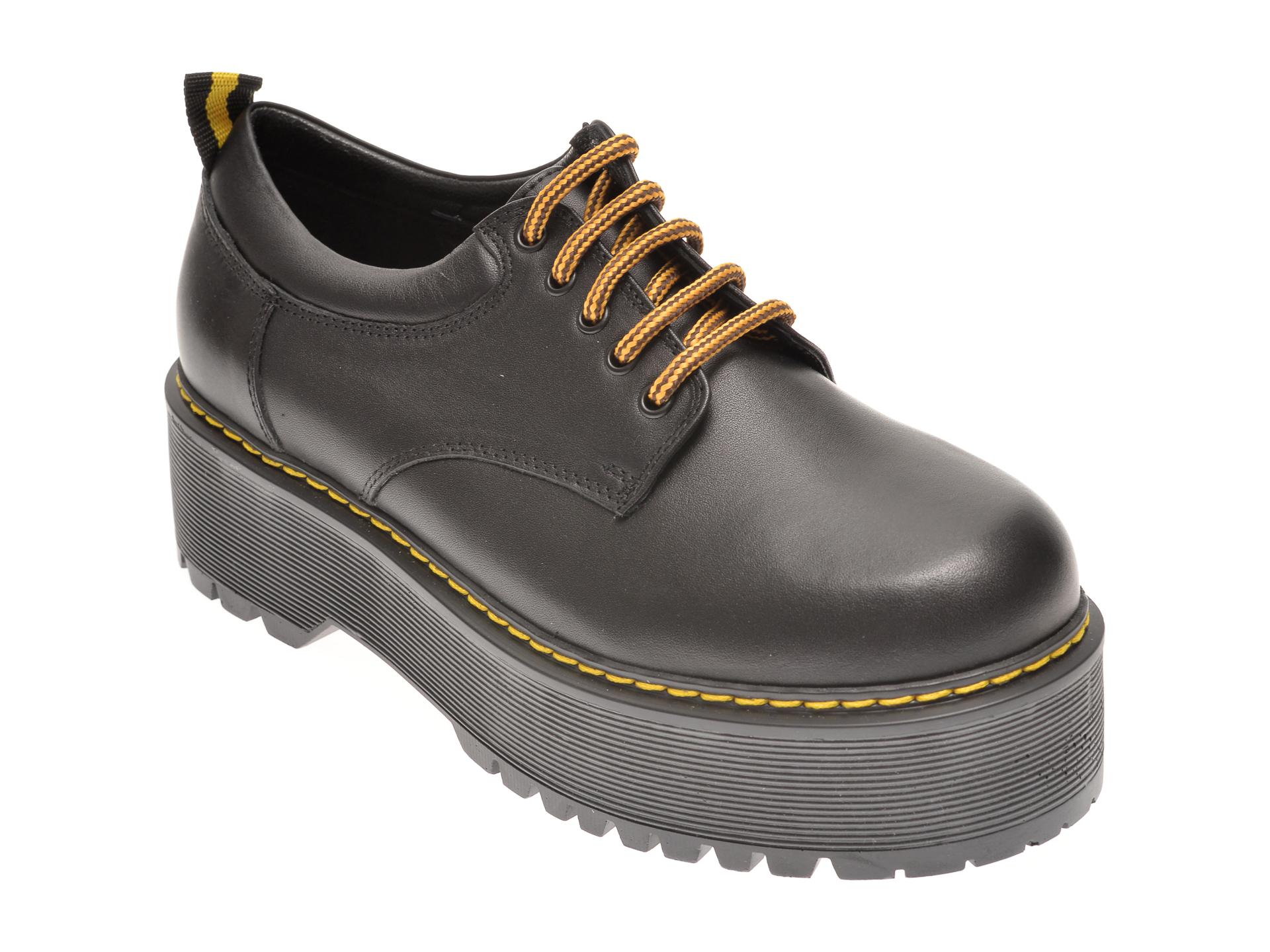 Pantofi FLAVIA PASSINI negri, 731183, din piele naturala imagine