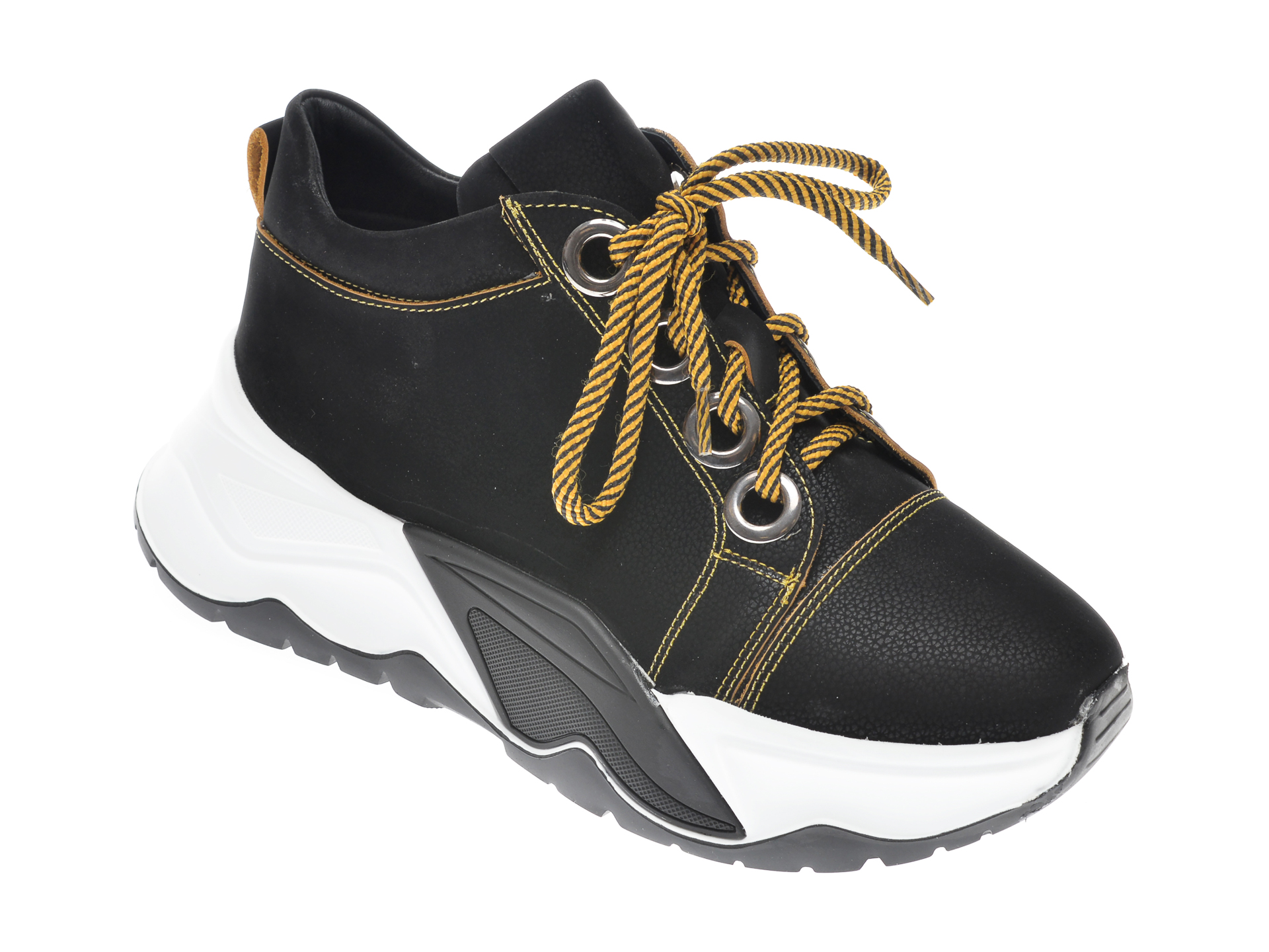 Pantofi FLAVIA PASSINI negri, 7435016, din nabuc imagine