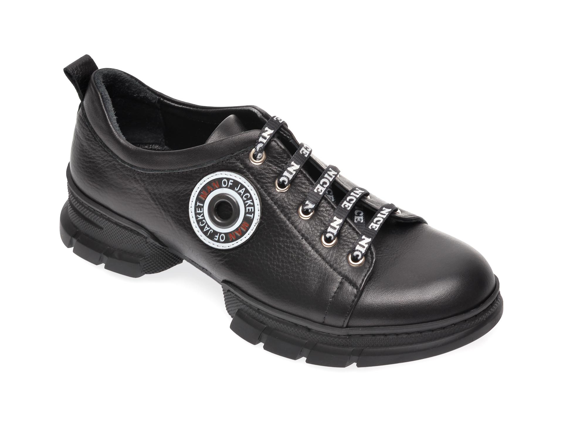 Pantofi FLAVIA PASSINI negri, 80732, din piele naturala