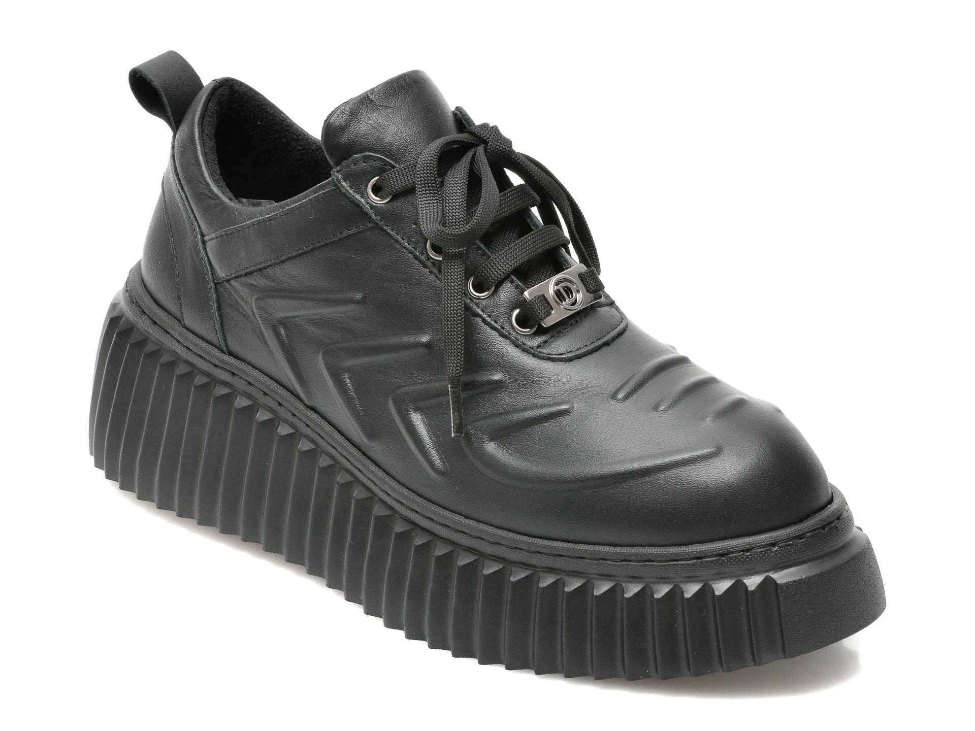 Pantofi FLAVIA PASSINI negri, 82213, din piele naturala imagine 2021 Flavia Passini