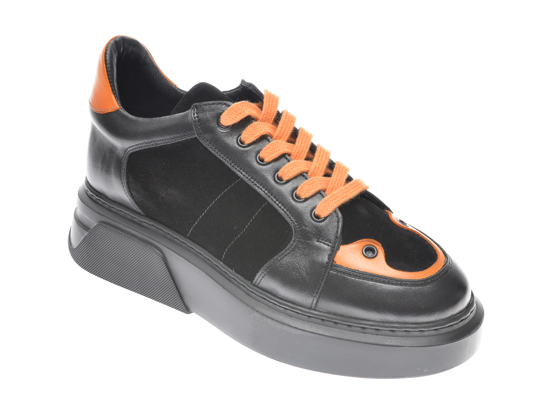 Pantofi FLAVIA PASSINI negri, 8701003, din piele naturala imagine