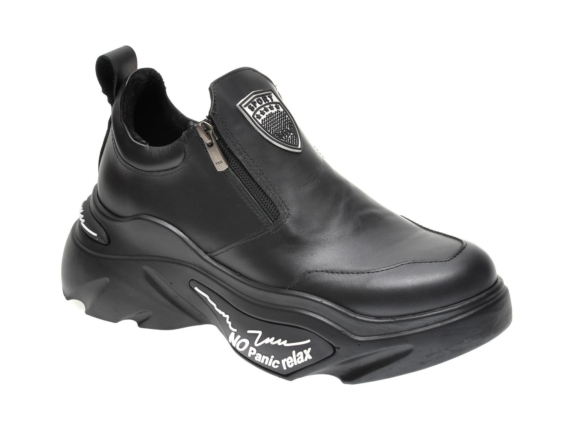 Pantofi FLAVIA PASSINI negri, 881010, din piele naturala imagine