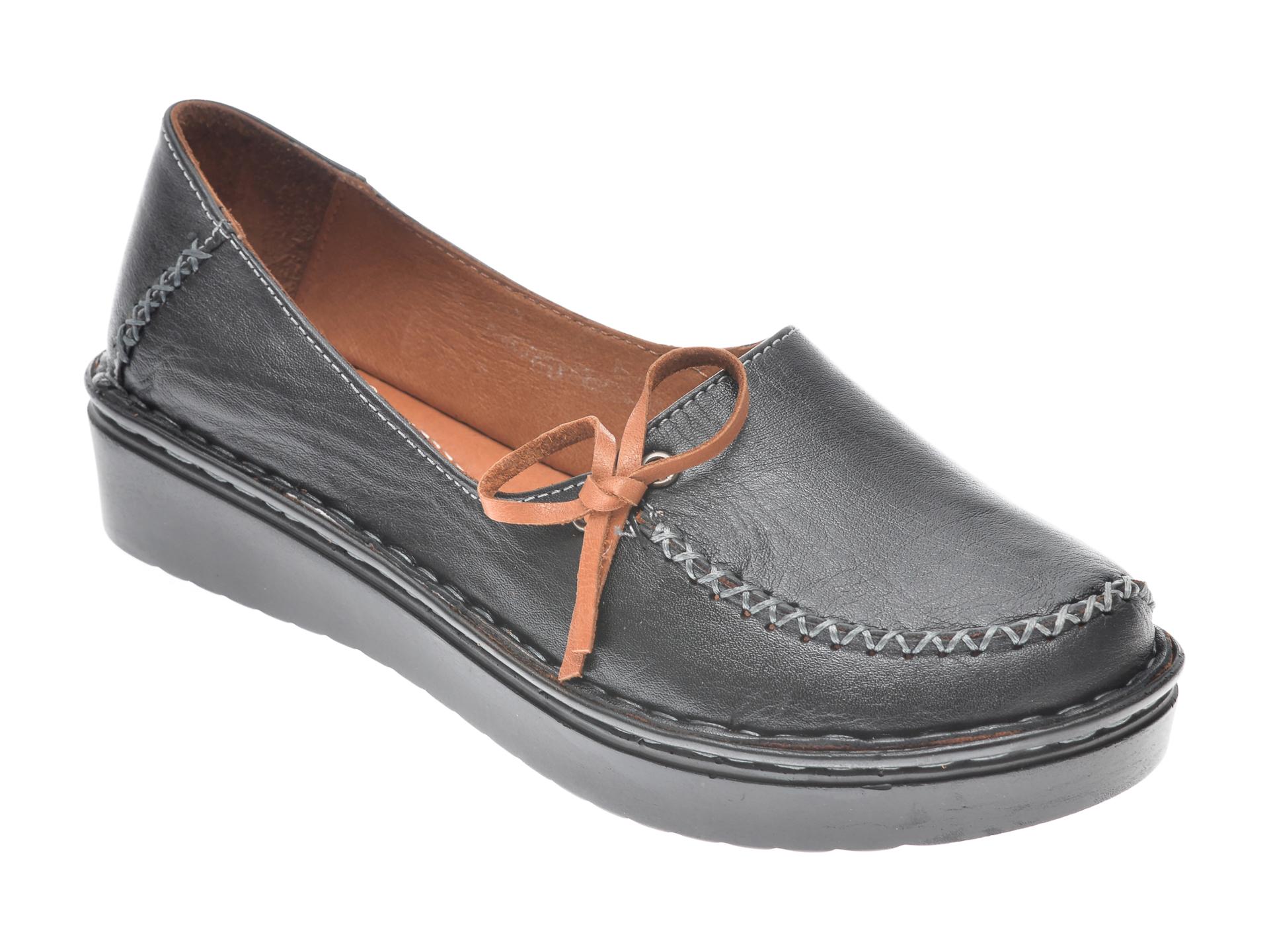 Pantofi FLAVIA PASSINI negri, 953403, din piele naturala imagine