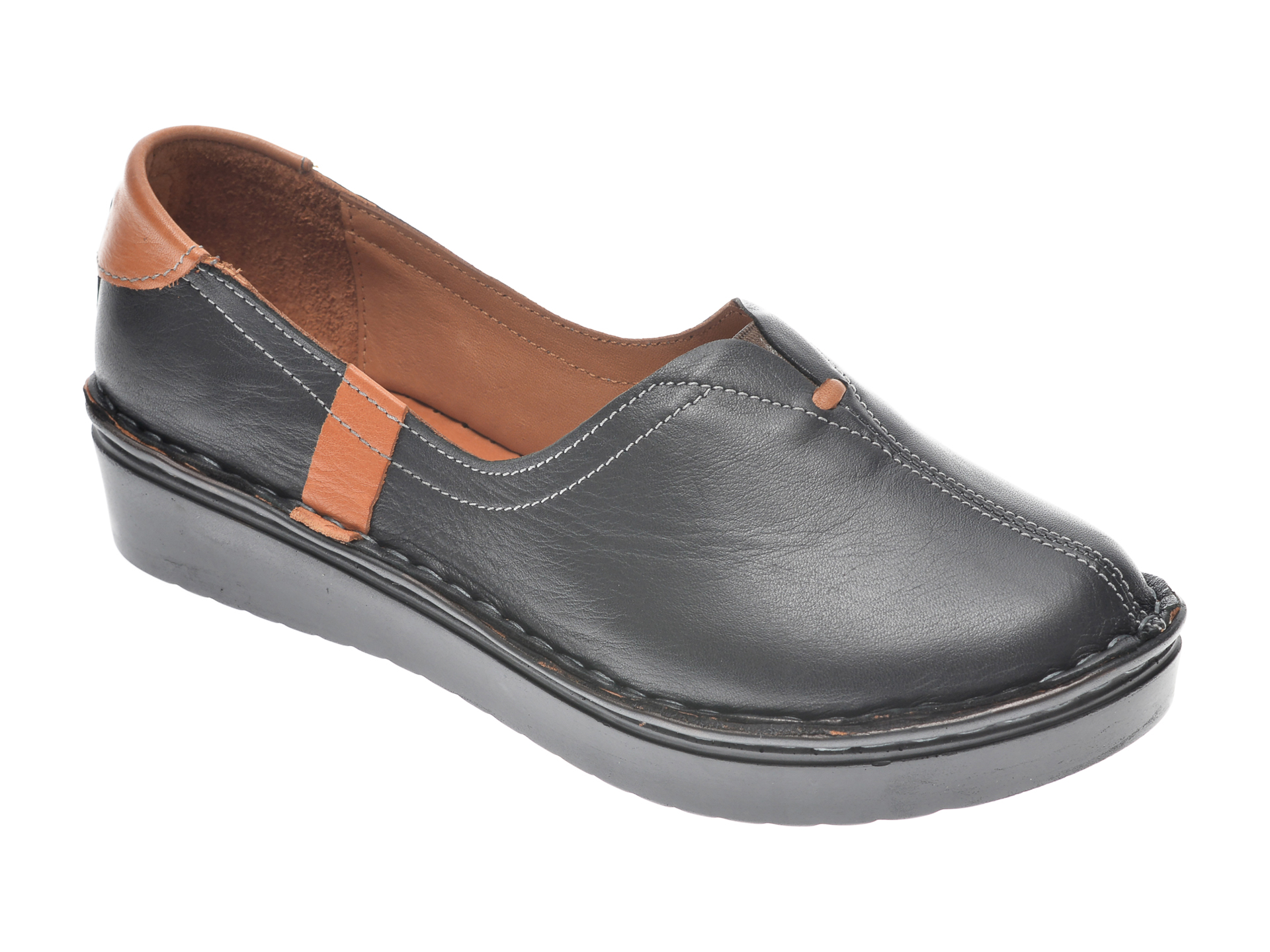 Pantofi FLAVIA PASSINI negri, 953405, din piele naturala imagine