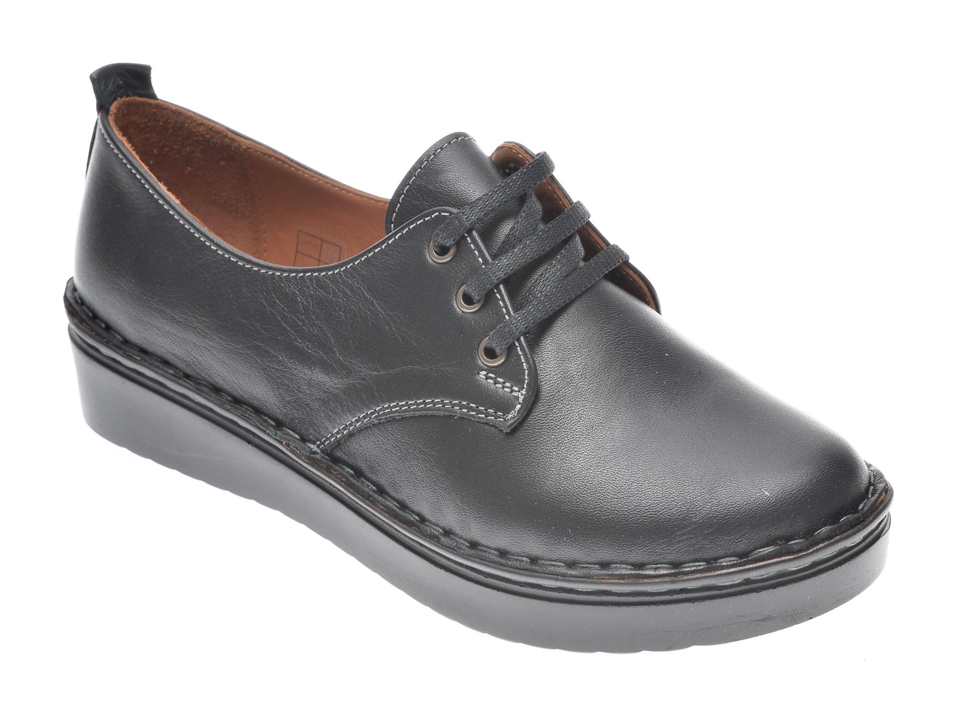 Pantofi FLAVIA PASSINI negri, 953520, din piele naturala imagine