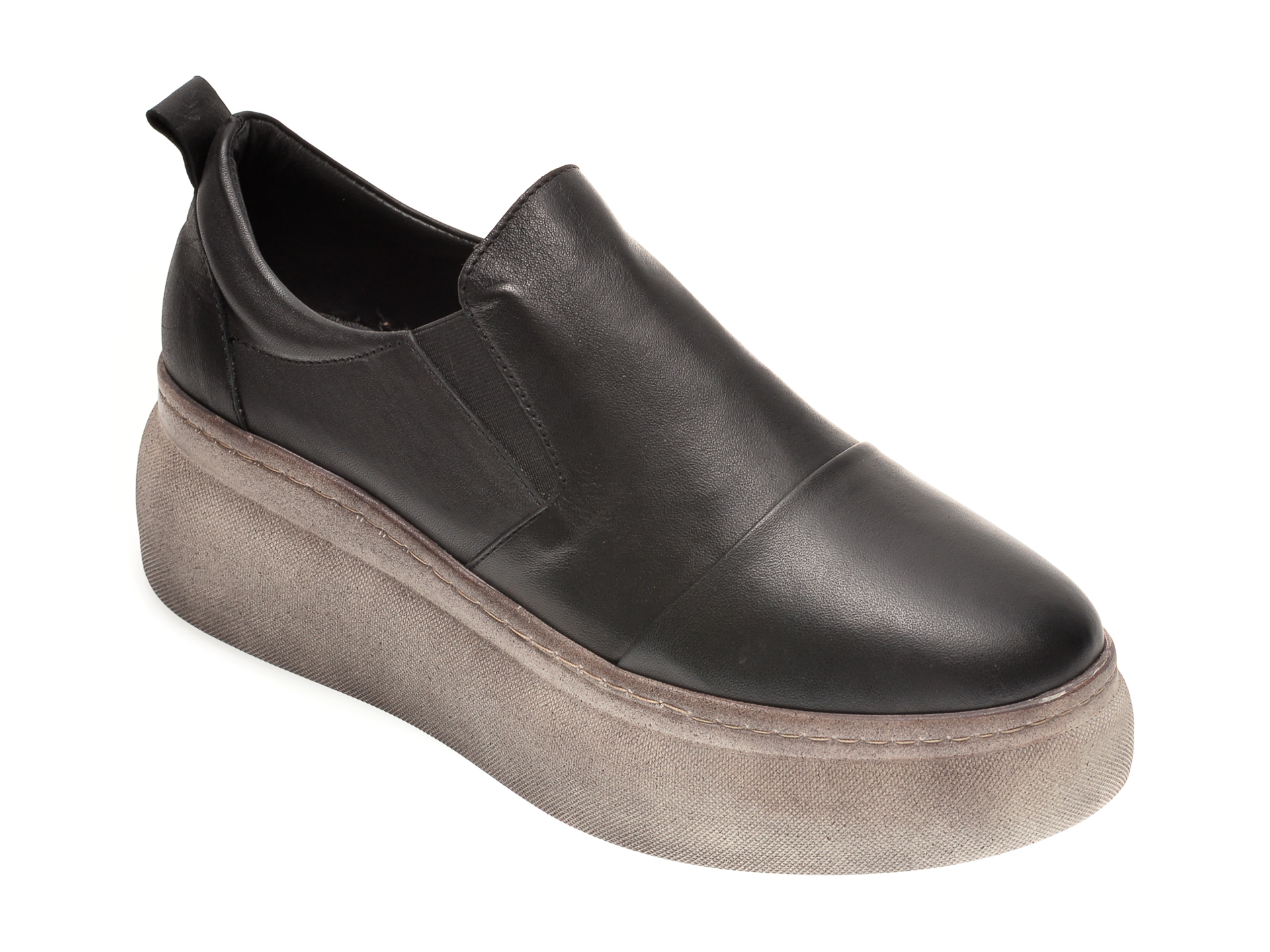 Pantofi FLAVIA PASSINI negri, 9911, din piele naturala imagine