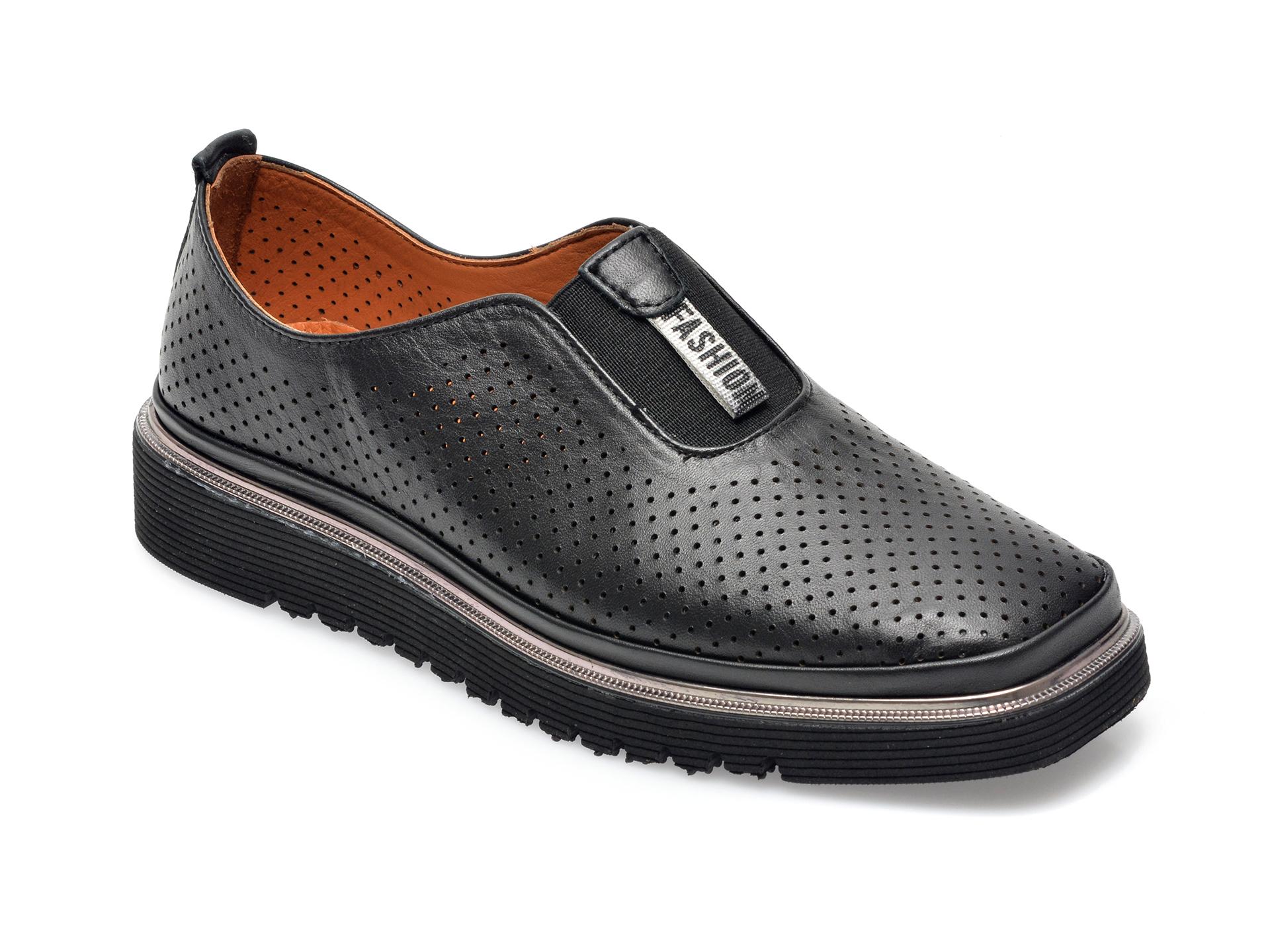 Pantofi FLAVIA PASSINI negri, 993102, din piele naturala imagine otter.ro 2021