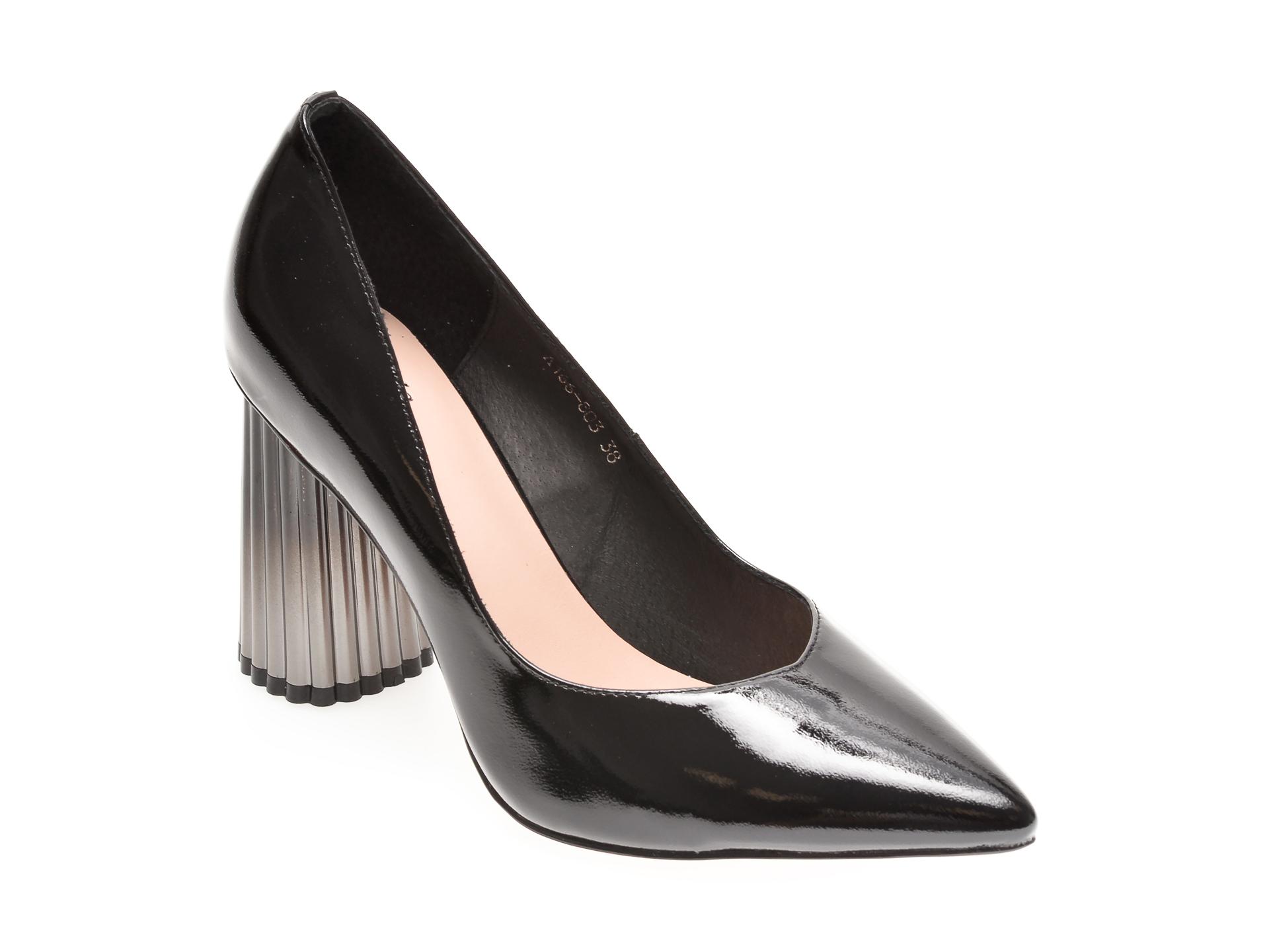 Pantofi FLAVIA PASSINI negri, A166803, din piele naturala lacuita imagine otter.ro