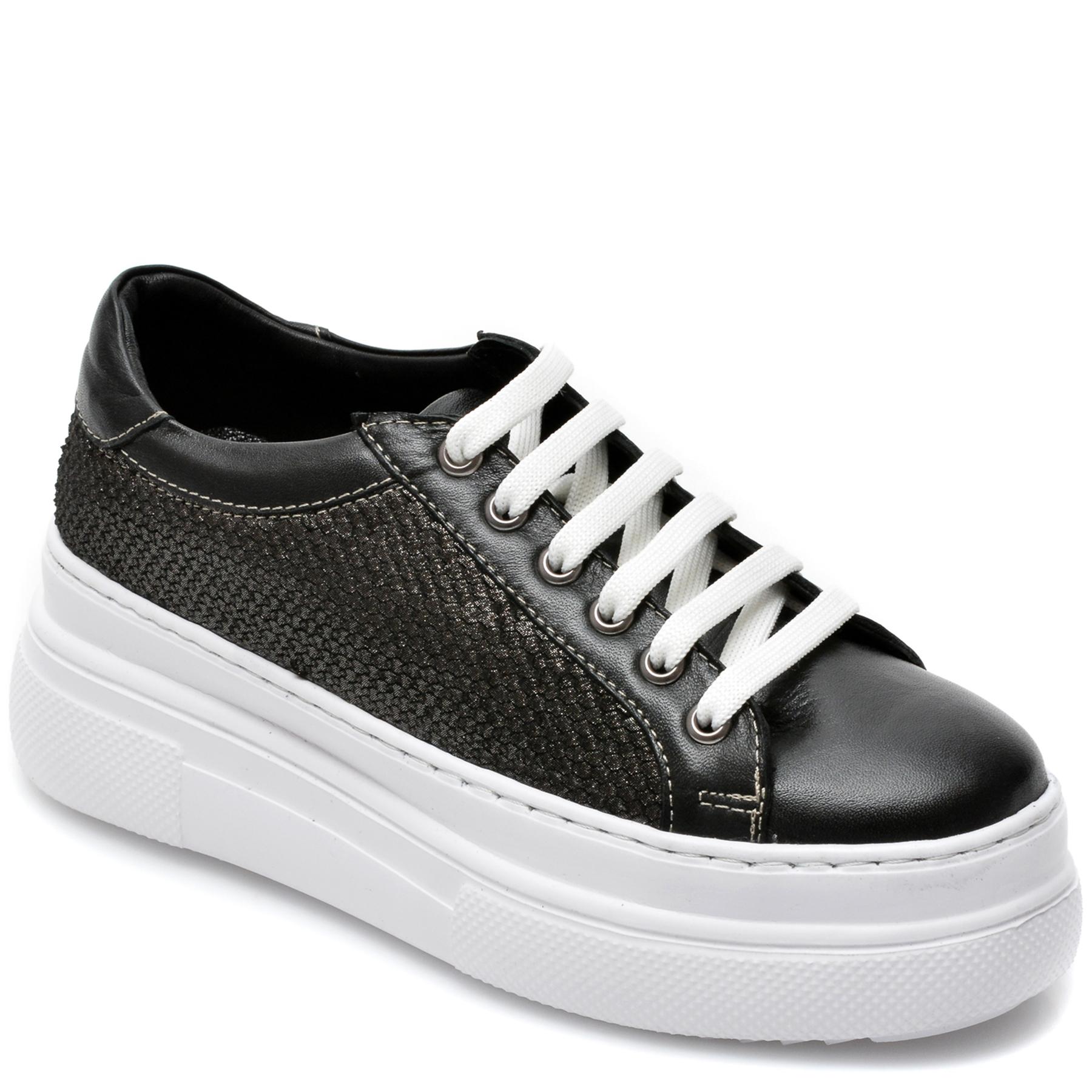 Pantofi FLAVIA PASSINI negri, C103, din piele naturala