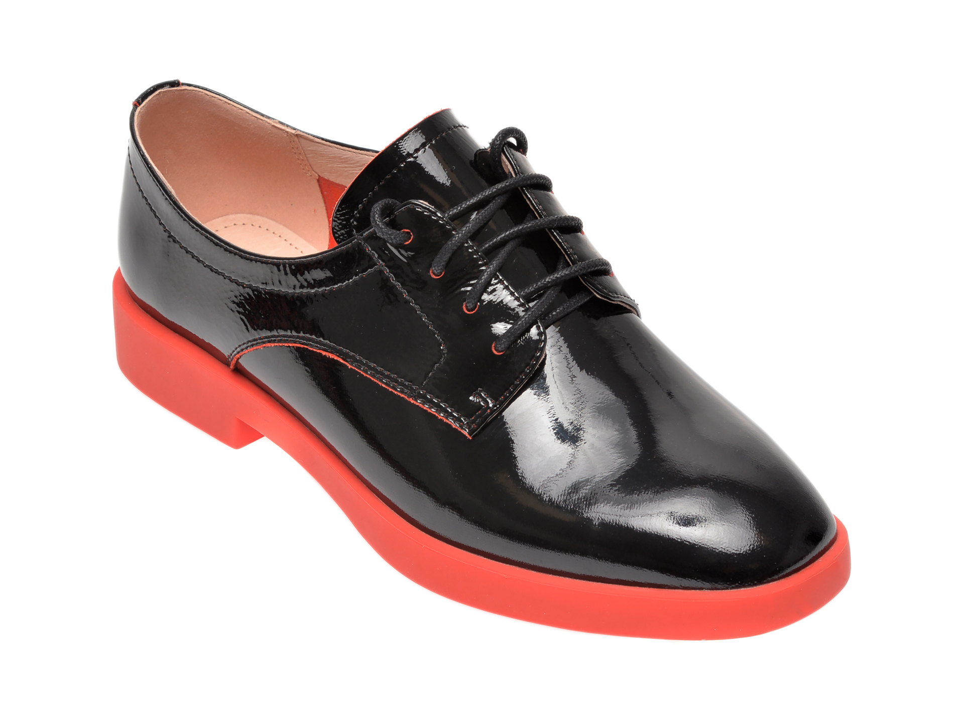 Pantofi FLAVIA PASSINI negri, FH92227, din piele naturala lacuita imagine