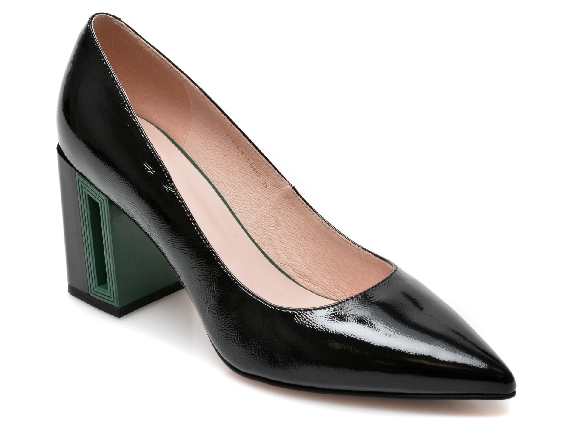 Pantofi FLAVIA PASSINI negri, G1435R5, din piele naturala lacuita