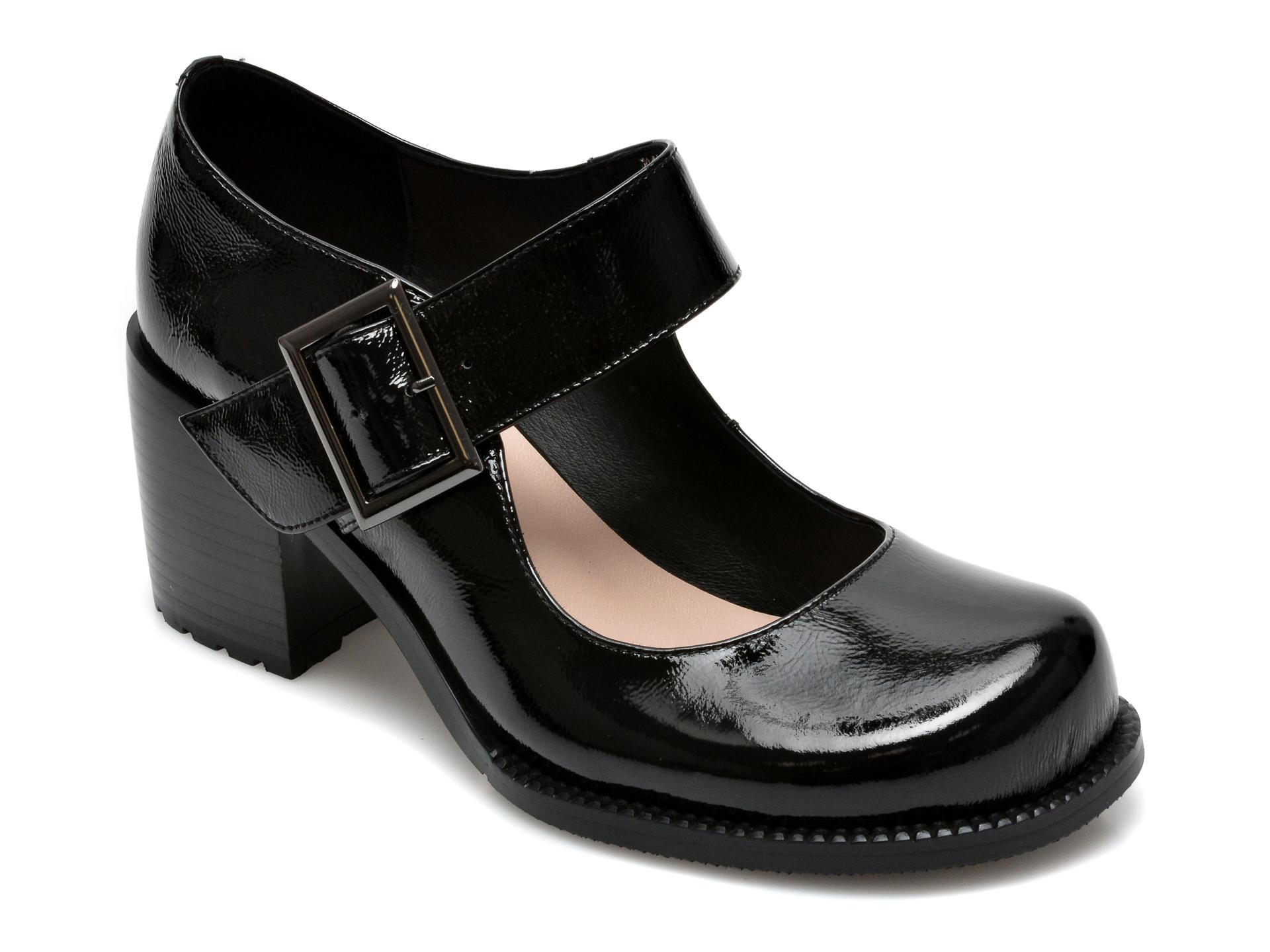 Pantofi FLAVIA PASSINI negri, H2118, din piele naturala lacuita imagine otter.ro 2021