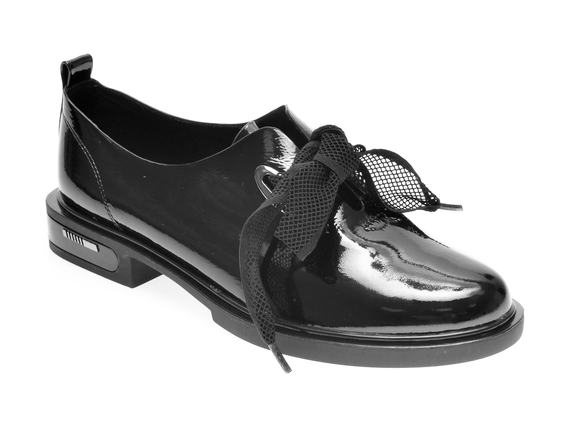 Pantofi FLAVIA PASSINI negri, H746010, din piele naturala lacuita New