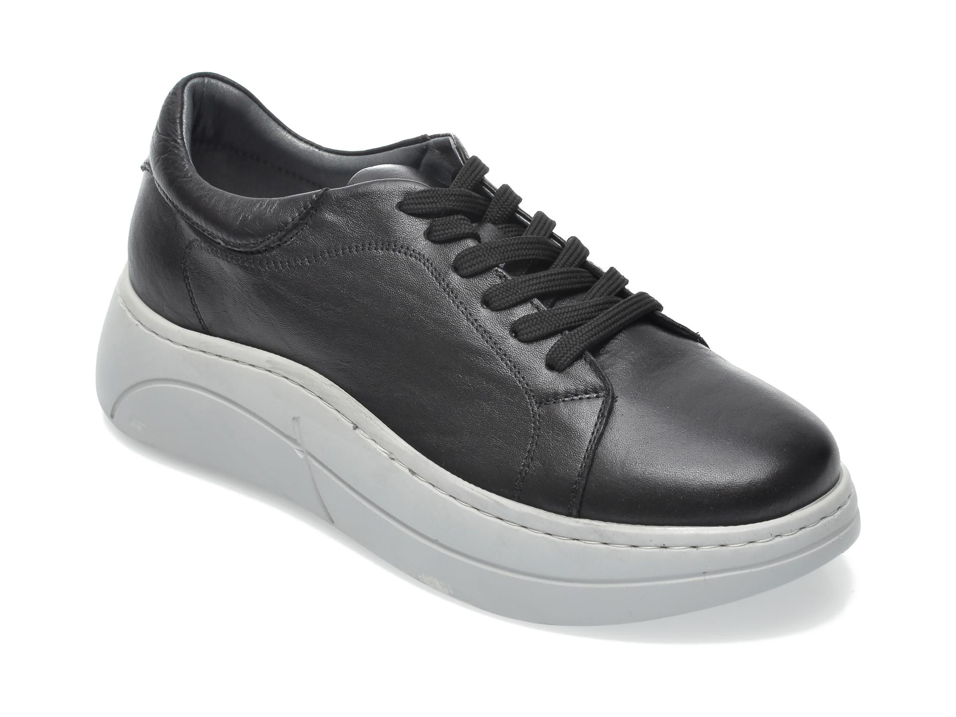 Pantofi FLAVIA PASSINI negri, K110, din piele naturala imagine otter.ro 2021