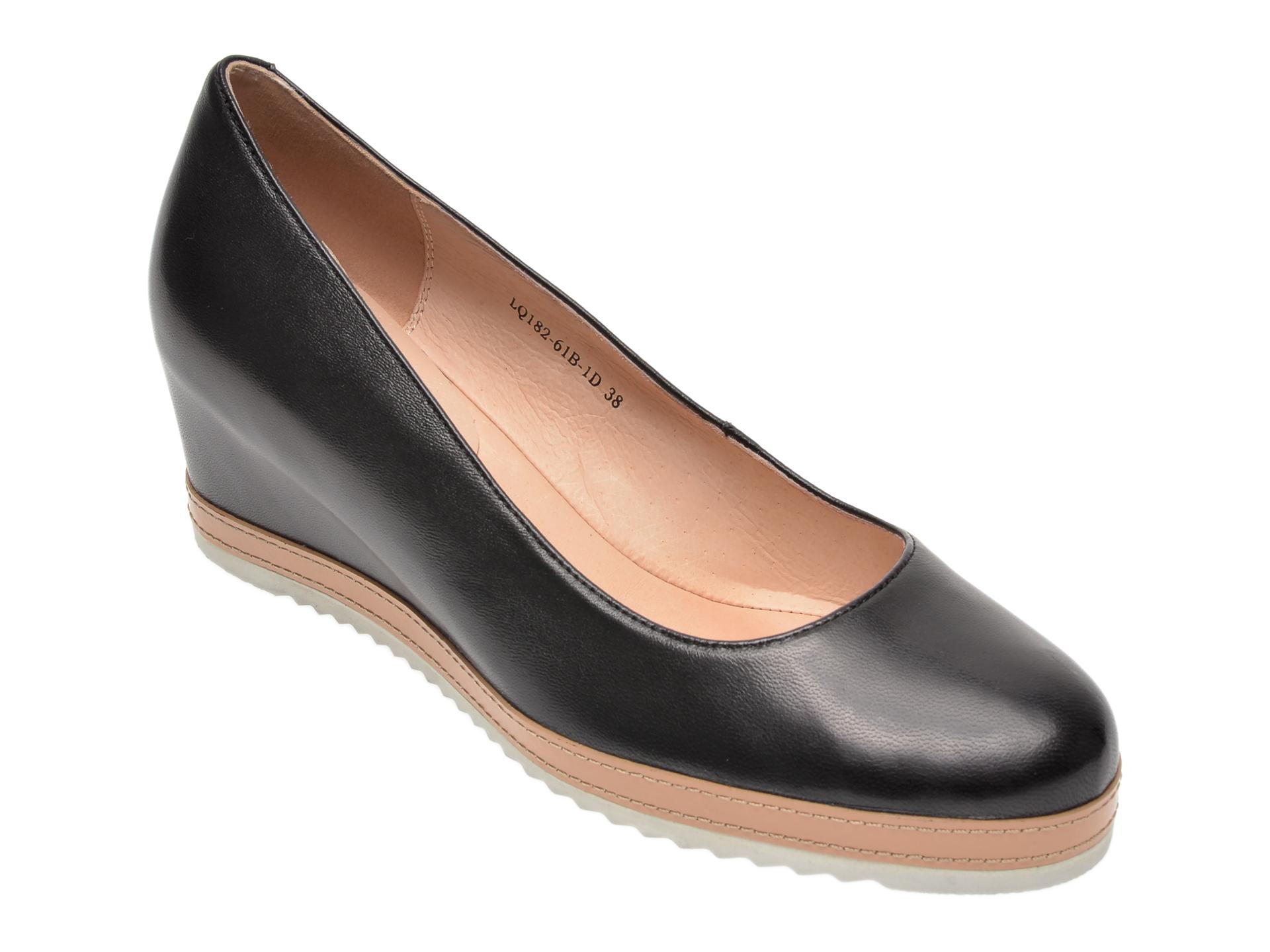 Pantofi FLAVIA PASSINI negri, LQ18261, din piele naturala