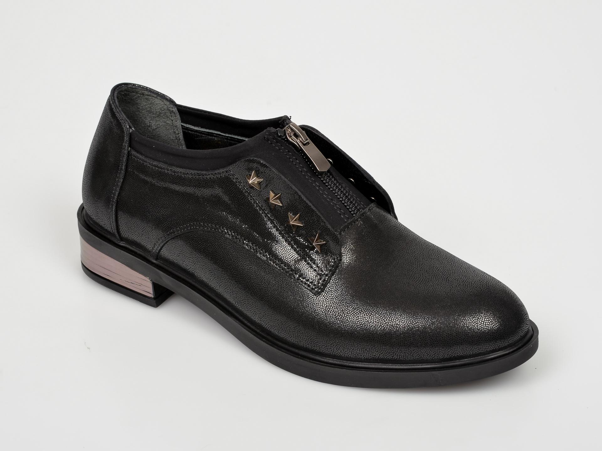 Pantofi FLAVIA PASSINI negri, NR8002, din piele naturala