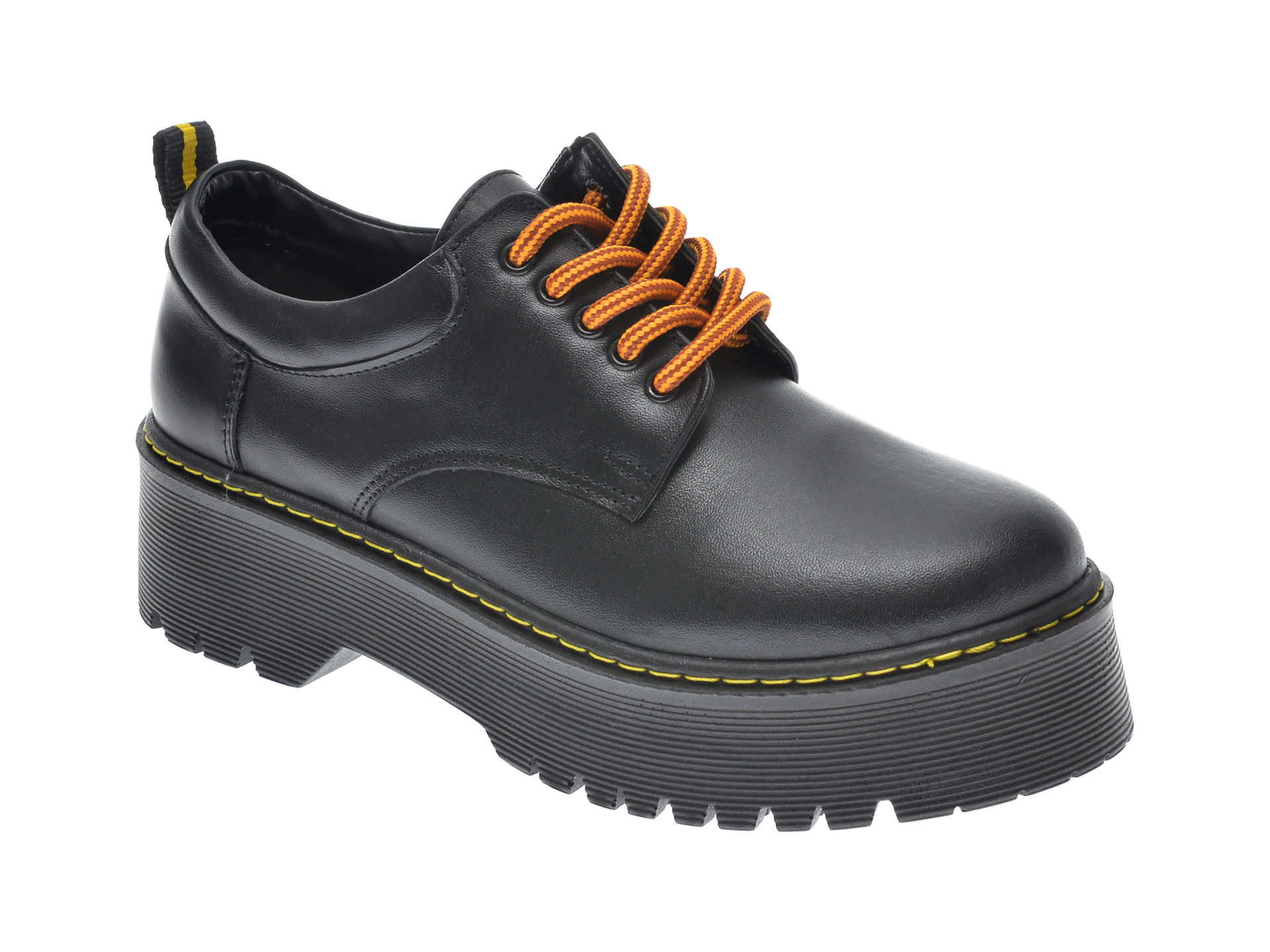 Pantofi FLAVIA PASSINI negri, OT2029, din piele naturala imagine