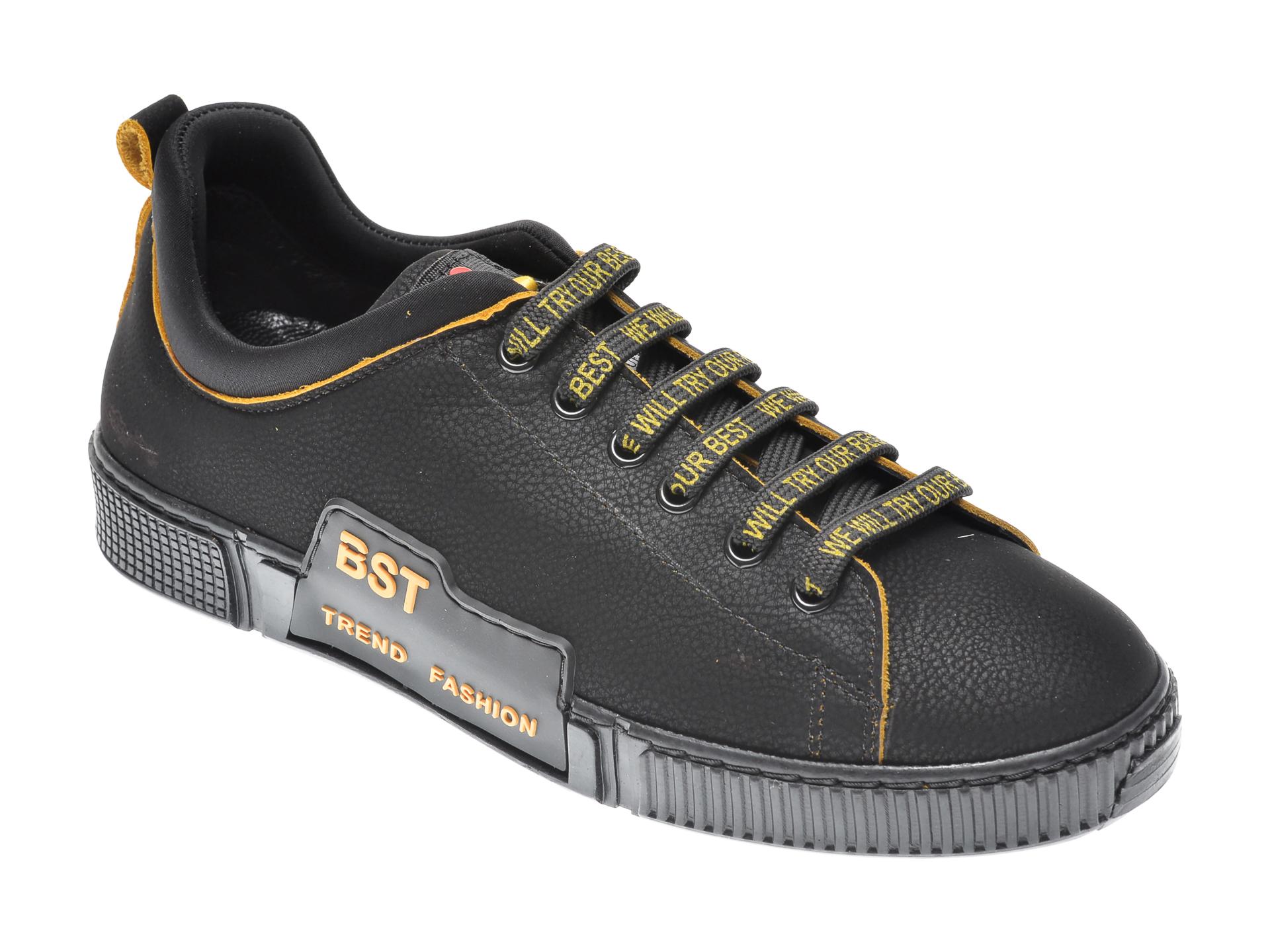 Pantofi FLAVIA PASSINI negri, QUATTRO, din piele naturala imagine
