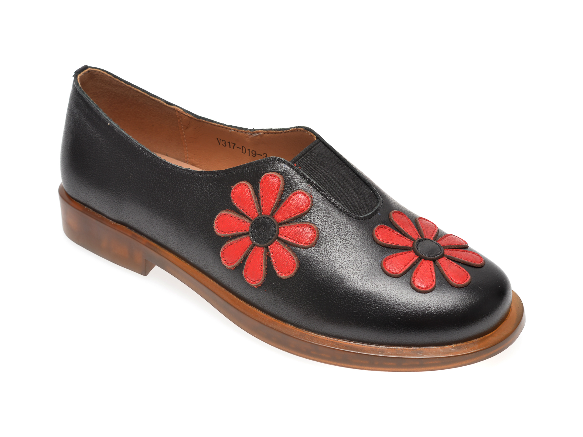 Pantofi FLAVIA PASSINI negri, V317D19, din piele naturala