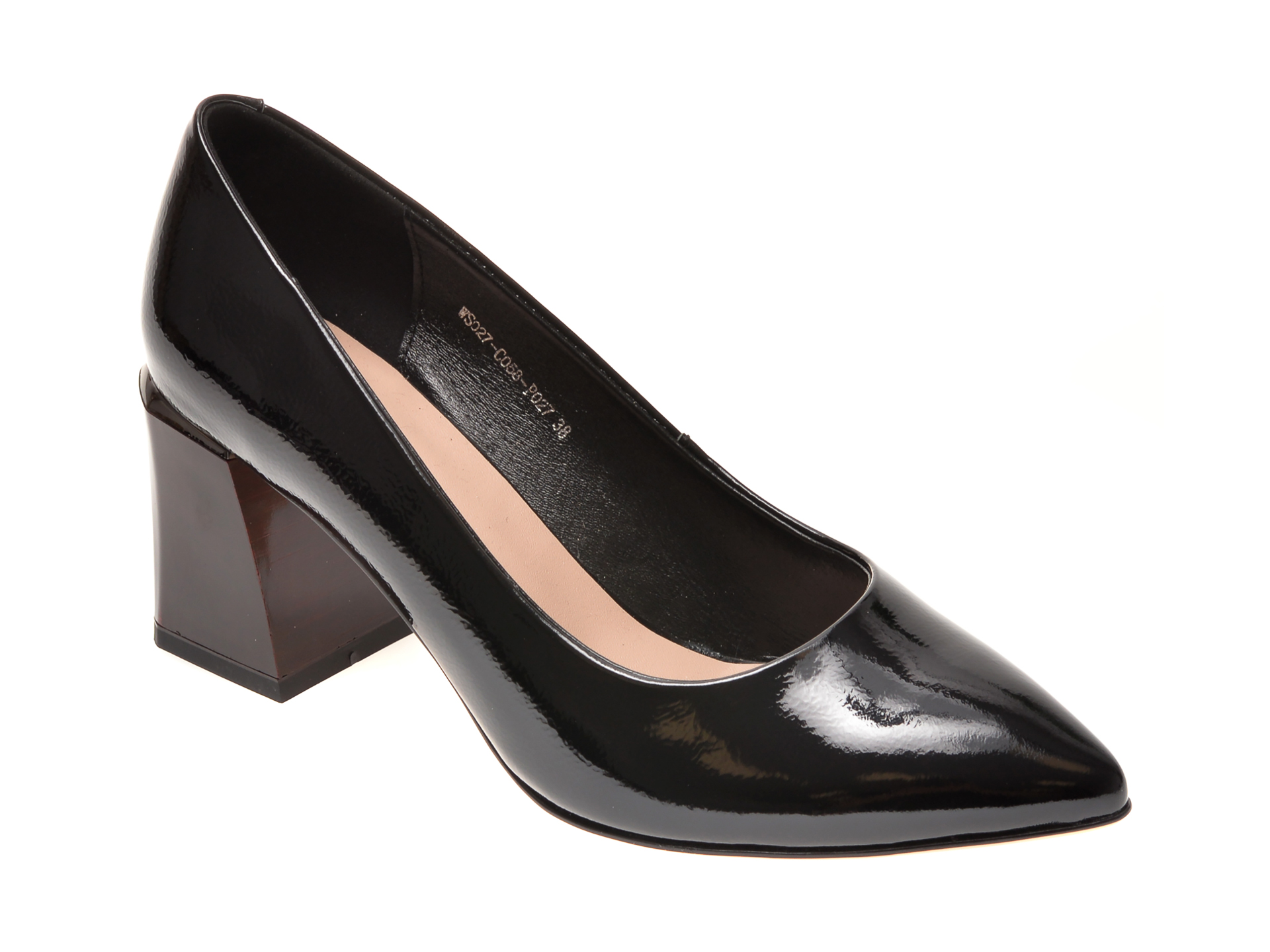 Pantofi FLAVIA PASSINI negri, WS02C05, din piele naturala lacuita imagine otter.ro