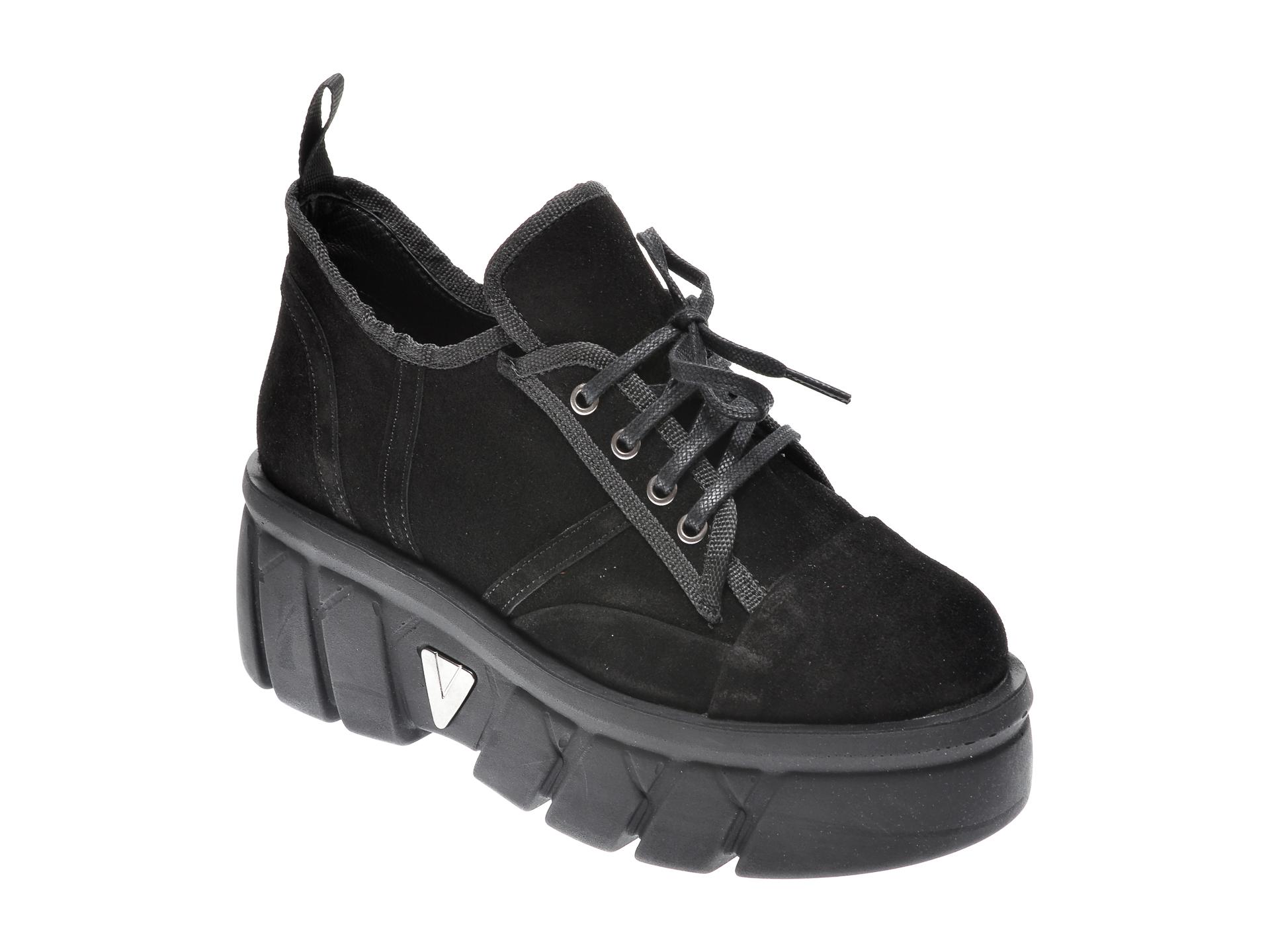 Pantofi FLAVIA PASSINI negri, Z8552, din piele intoarsa imagine