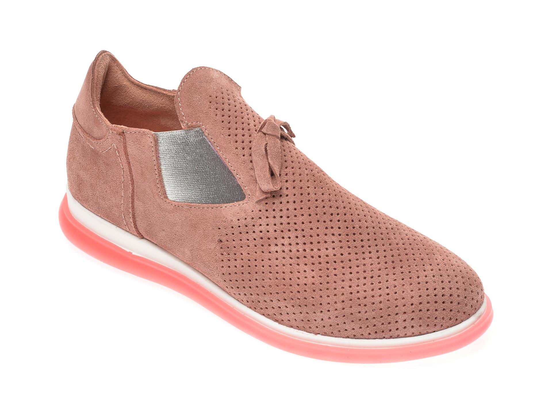 Pantofi FLAVIA PASSINI nude, 402712, din piele intoarsa imagine