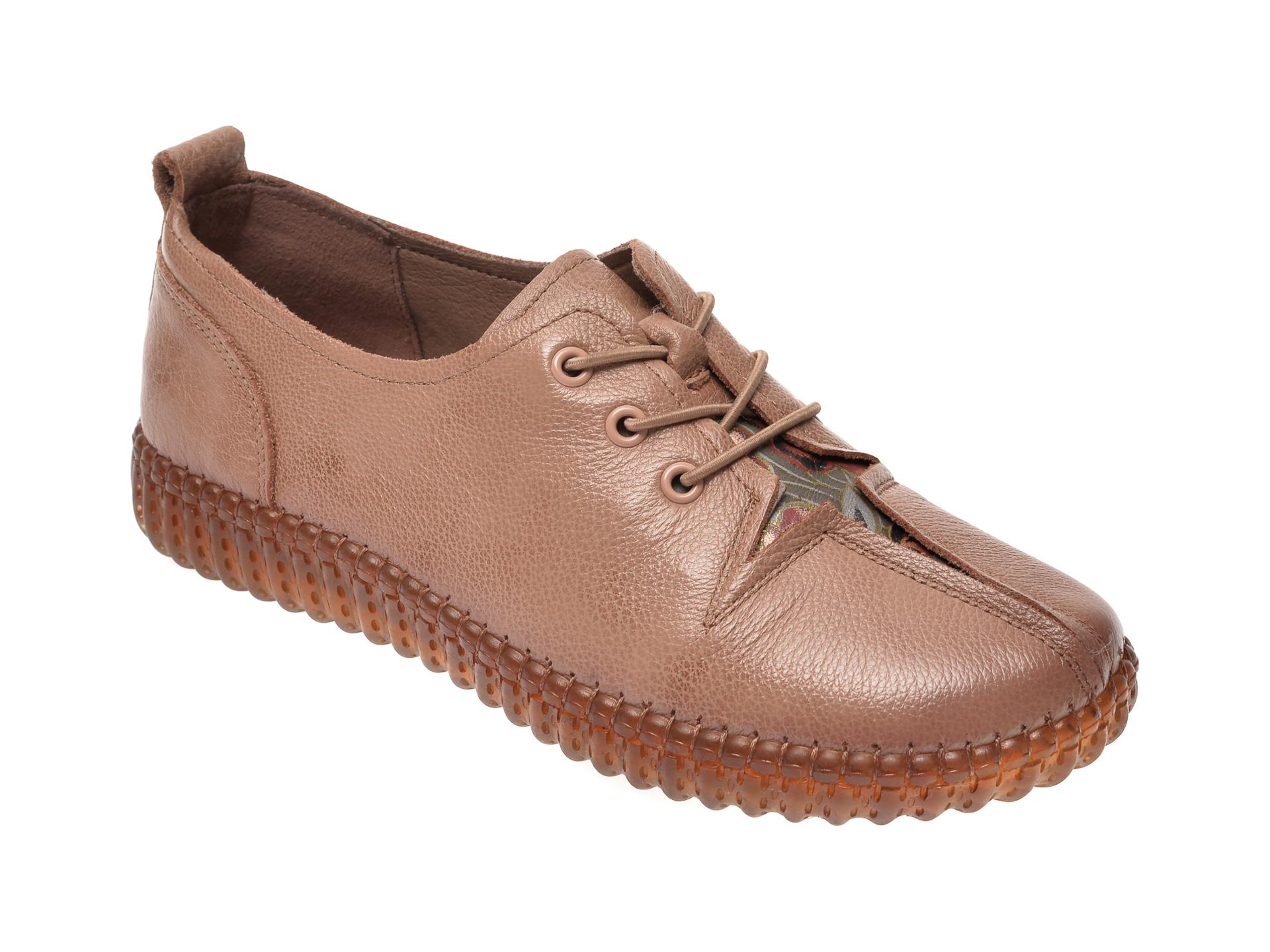 Pantofi FLAVIA PASSINI nude, D6011, din piele naturala