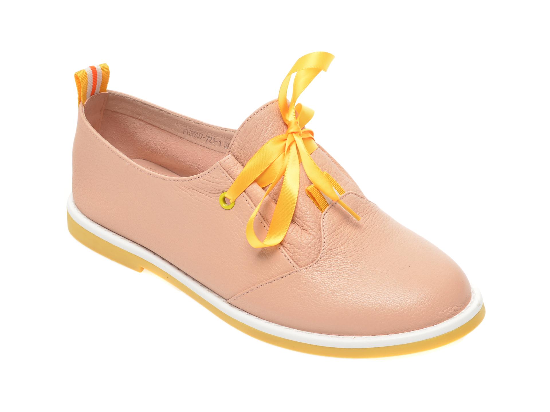Pantofi FLAVIA PASSINI nude, FH93077, din piele naturala imagine