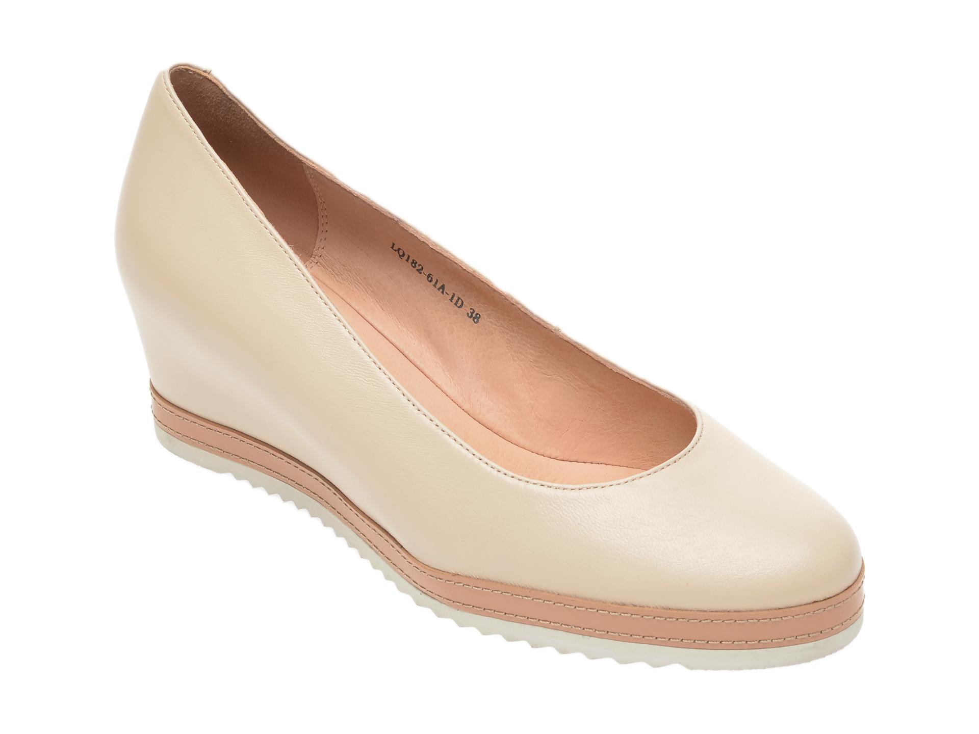 Pantofi FLAVIA PASSINI nude, LQ18261, din piele naturala imagine
