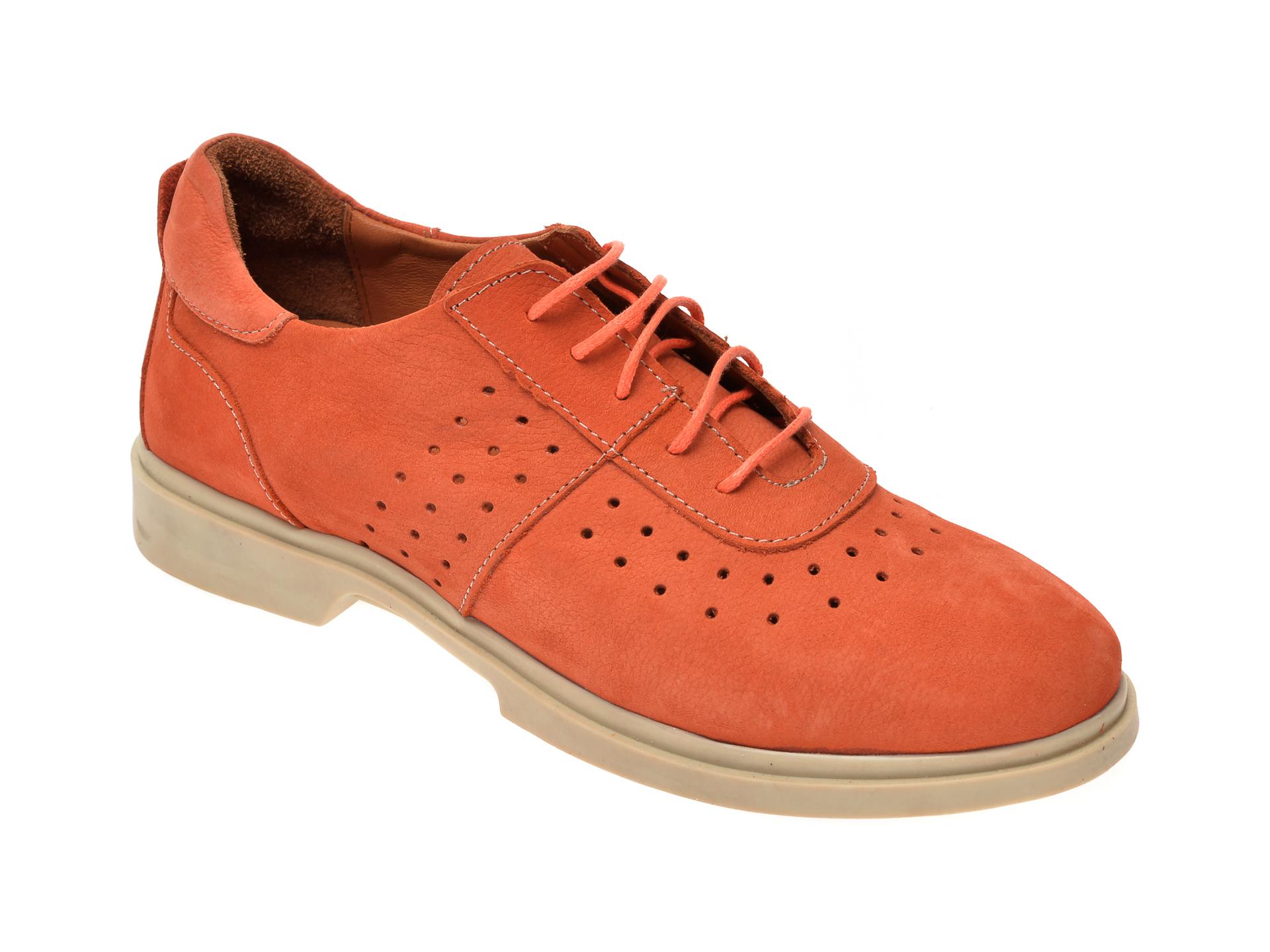 Pantofi FLAVIA PASSINI portocalii, 2201, din nabuc