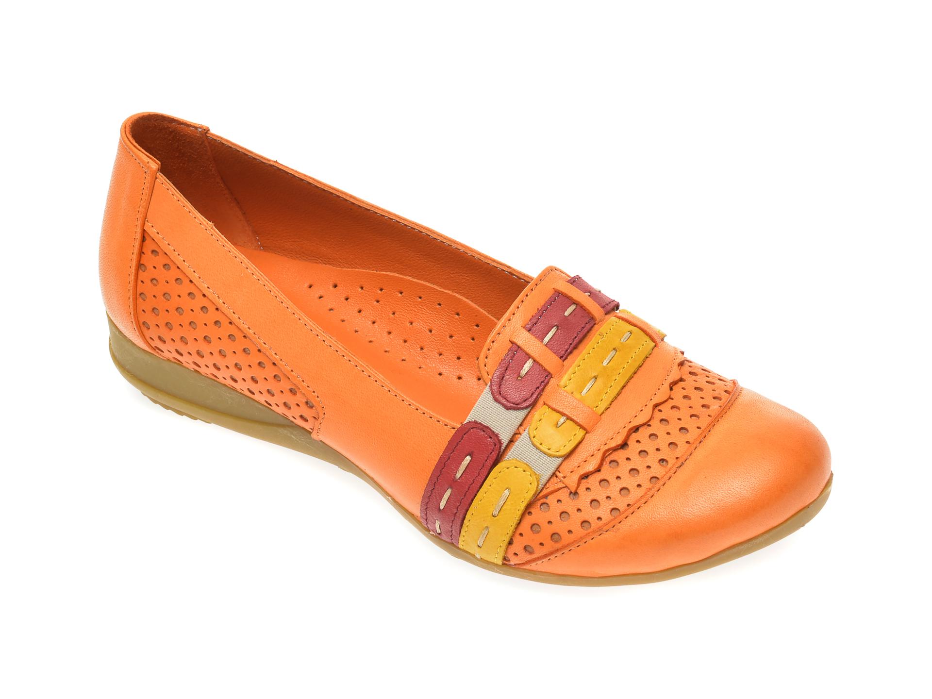 Pantofi FLAVIA PASSINI portocalii, B0304, din piele naturala