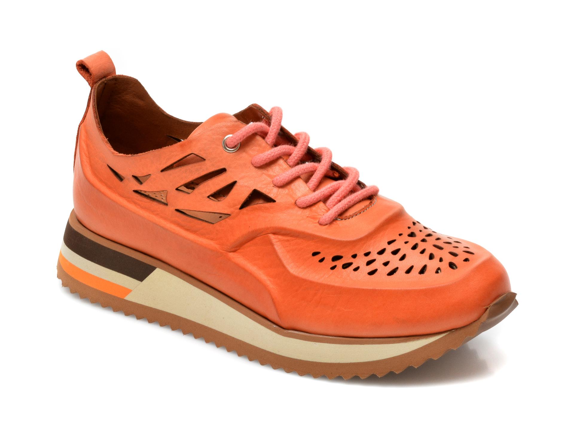 Pantofi FLAVIA PASSINI portocalii, V1775A, din piele naturala imagine otter.ro 2021