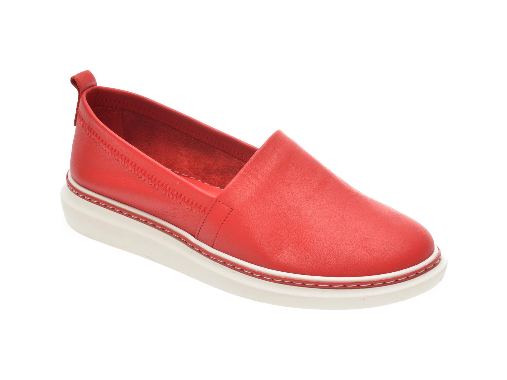 Pantofi FLAVIA PASSINI rosii, 1029000, din piele naturala imagine