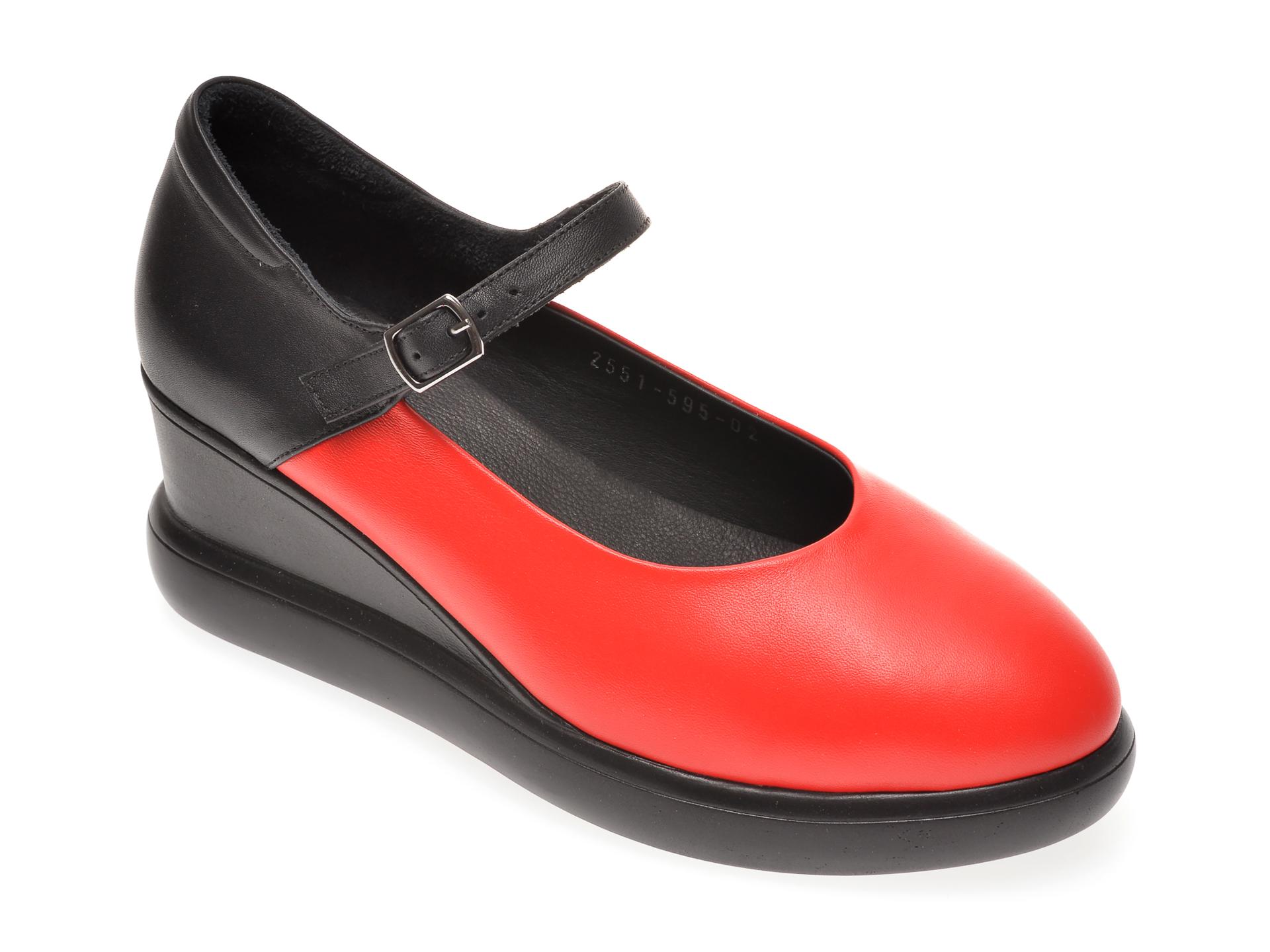 Pantofi FLAVIA PASSINI rosii, 1182551, din piele naturala