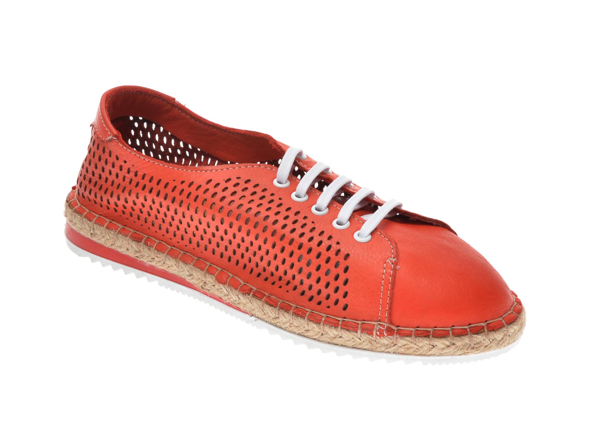 Pantofi FLAVIA PASSINI rosii, 21Y5503, din piele naturala imagine otter.ro