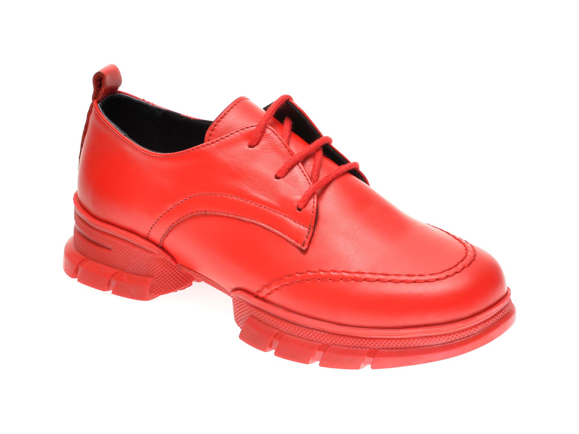 Pantofi FLAVIA PASSINI rosii, 297063, din piele naturala imagine
