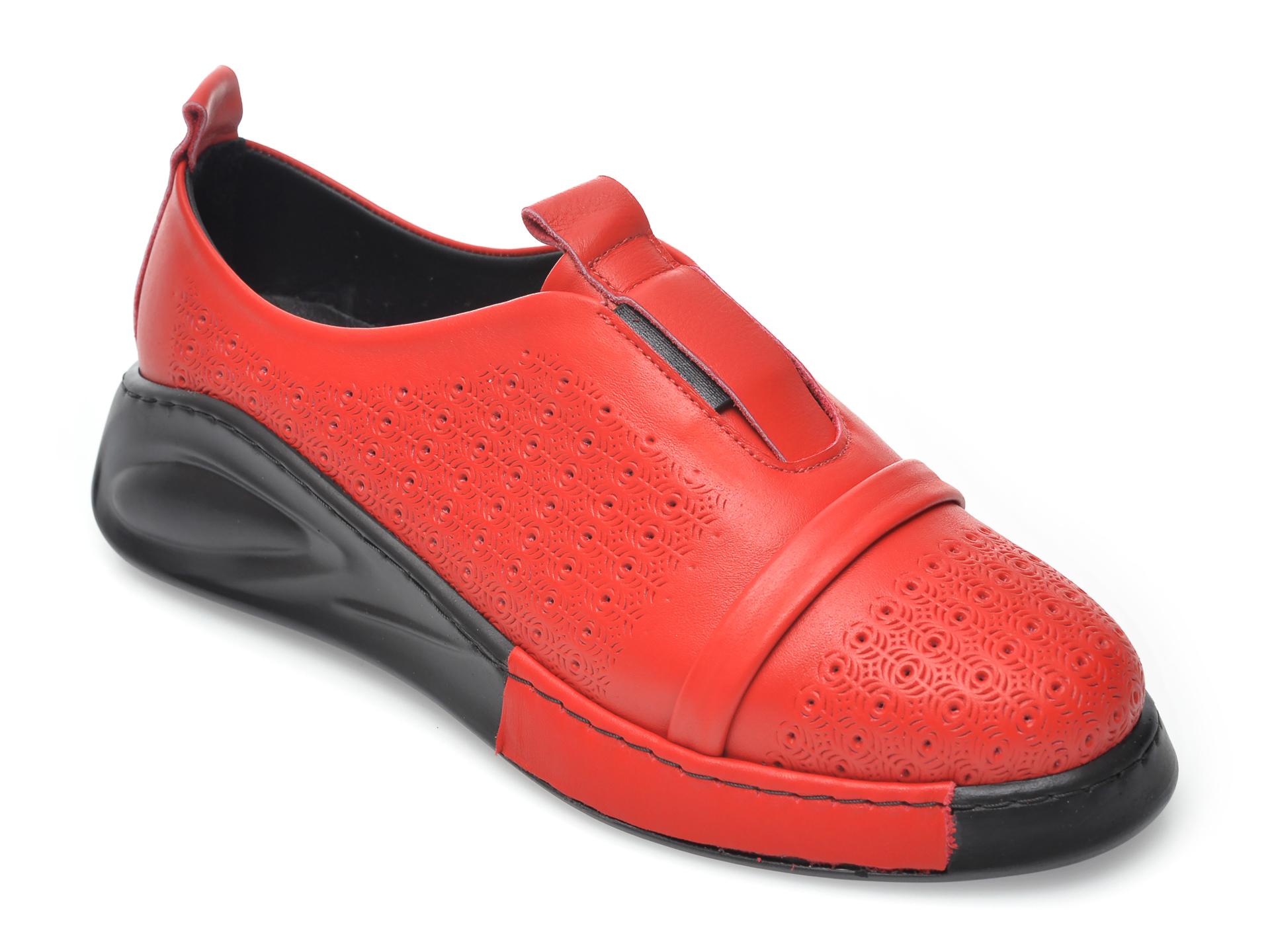 Pantofi FLAVIA PASSINI rosii, 645200, din piele naturala imagine otter.ro 2021