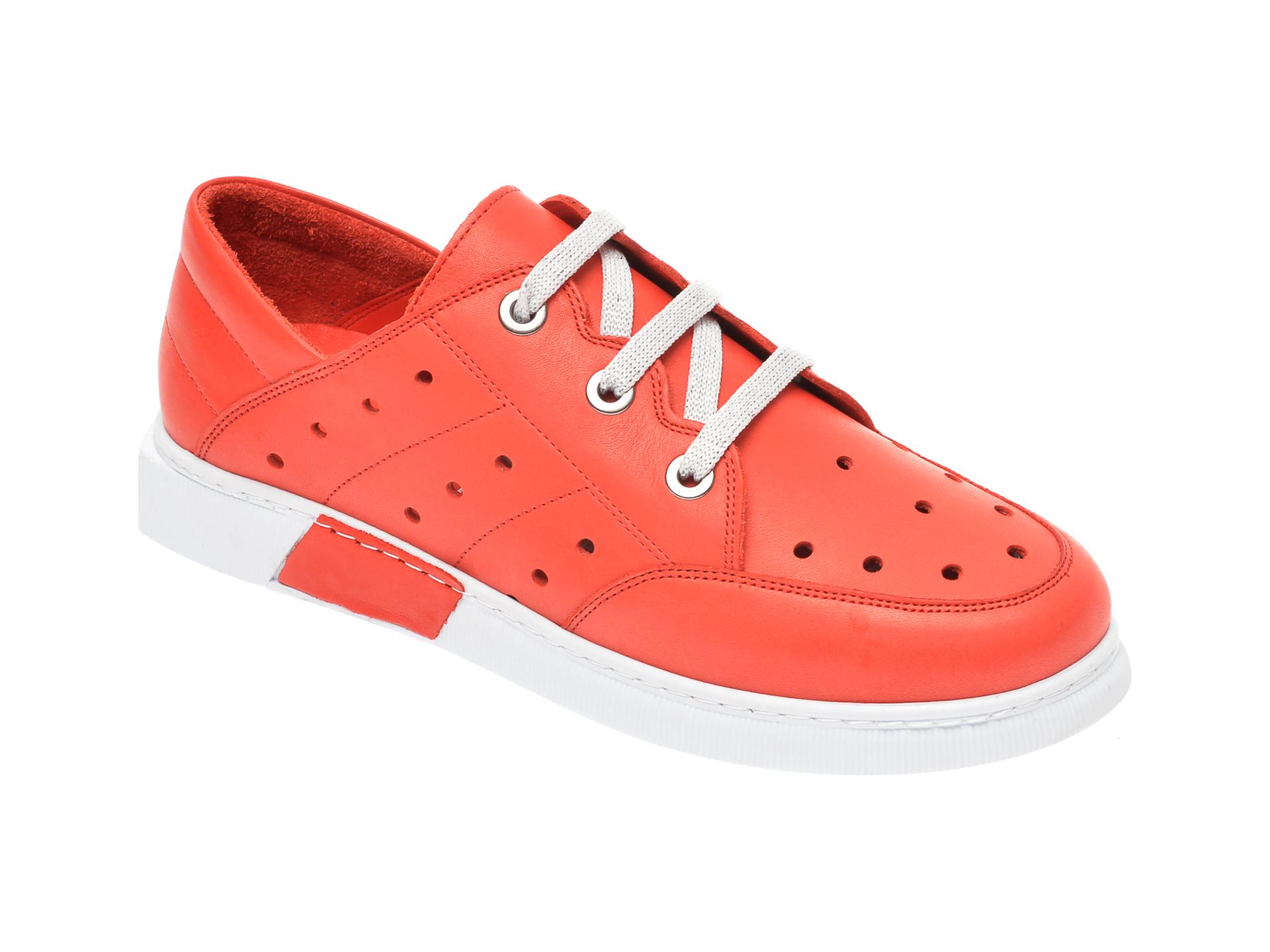 Pantofi FLAVIA PASSINI rosii, 645435, din piele naturala imagine