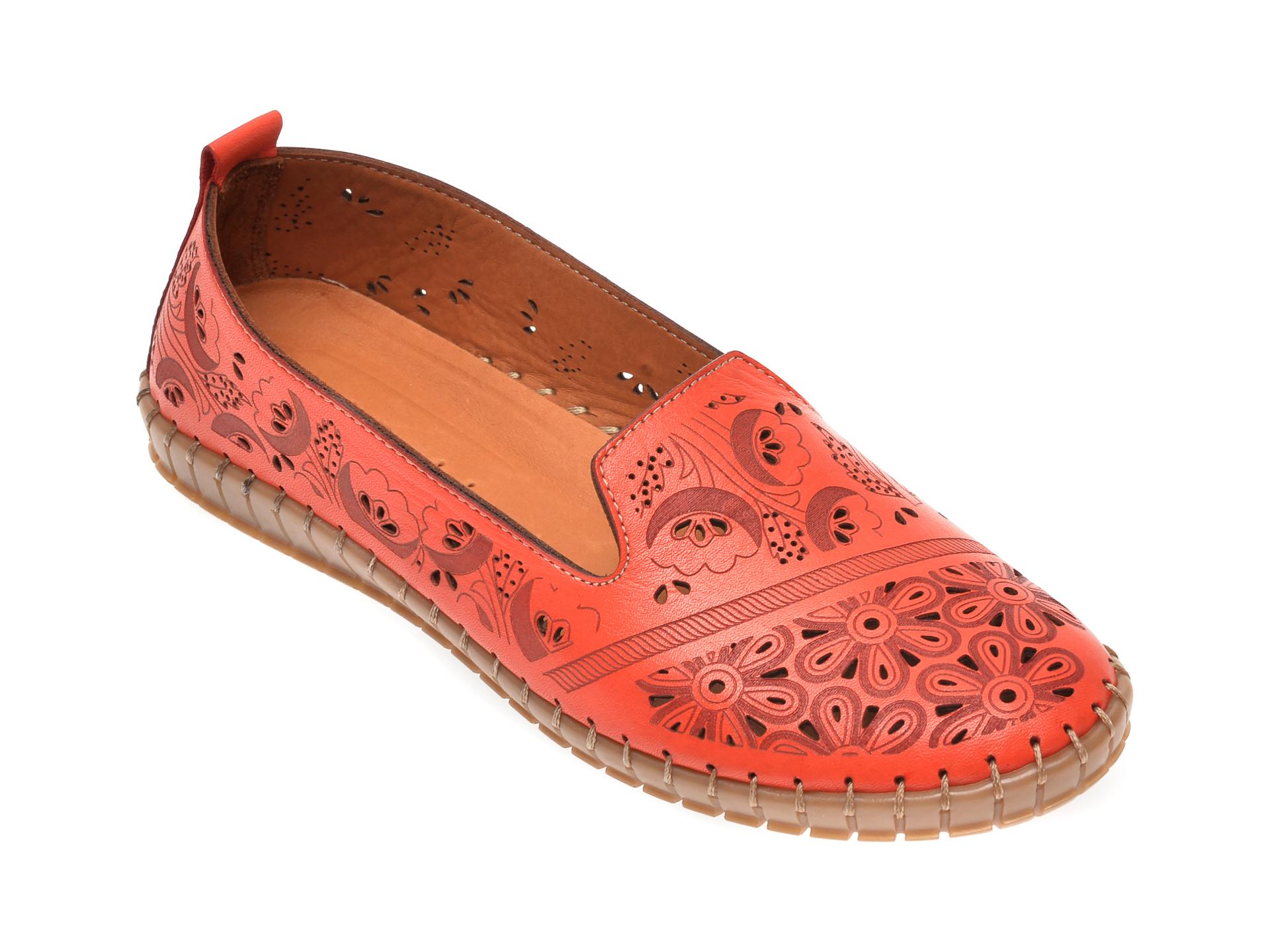 Pantofi FLAVIA PASSINI rosii, 792731, din piele naturala imagine