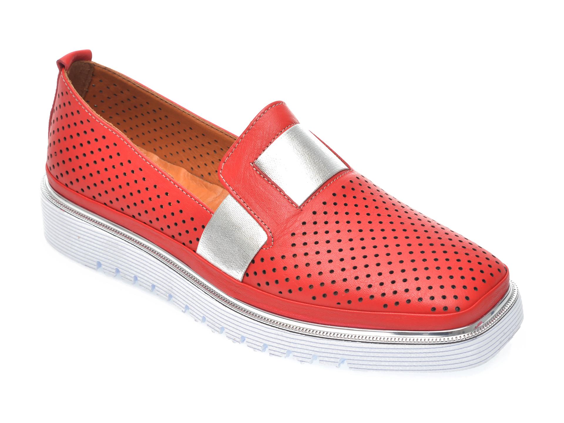 Pantofi FLAVIA PASSINI rosii, 993101, din piele naturala