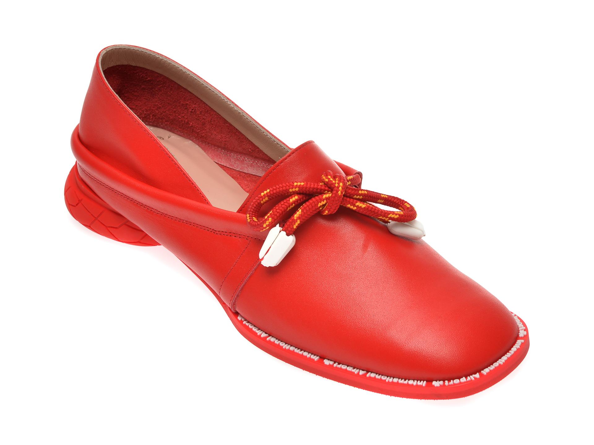 Pantofi FLAVIA PASSINI rosii, GM4515, din piele naturala