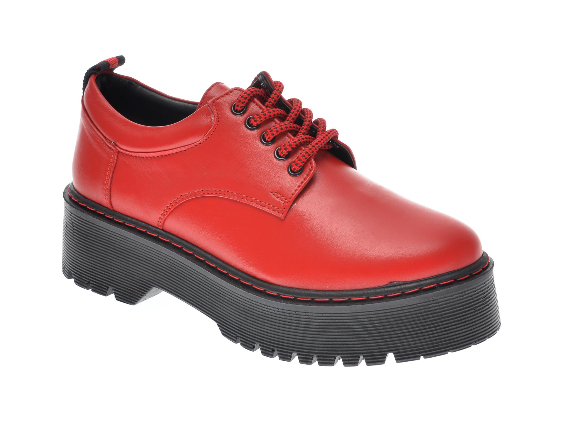 Pantofi FLAVIA PASSINI rosii, OT2029, din piele naturala imagine