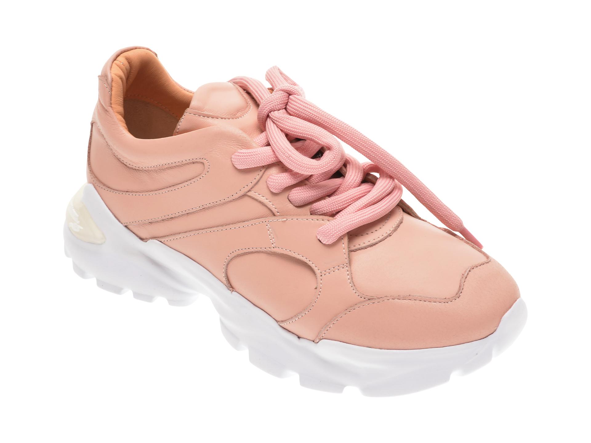 Pantofi Flavia Passini Roz, 135p29, Din Piele Intoarsa