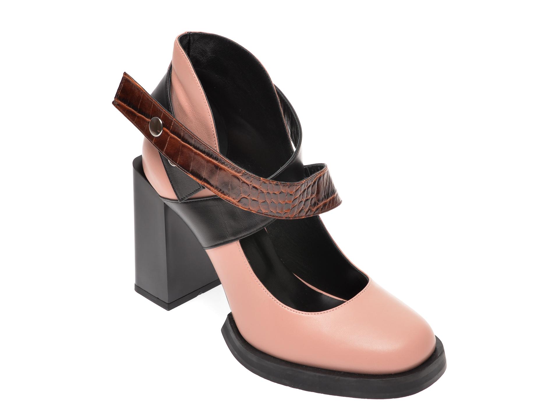 Pantofi FLAVIA PASSINI roz, 4070VER, din piele naturala