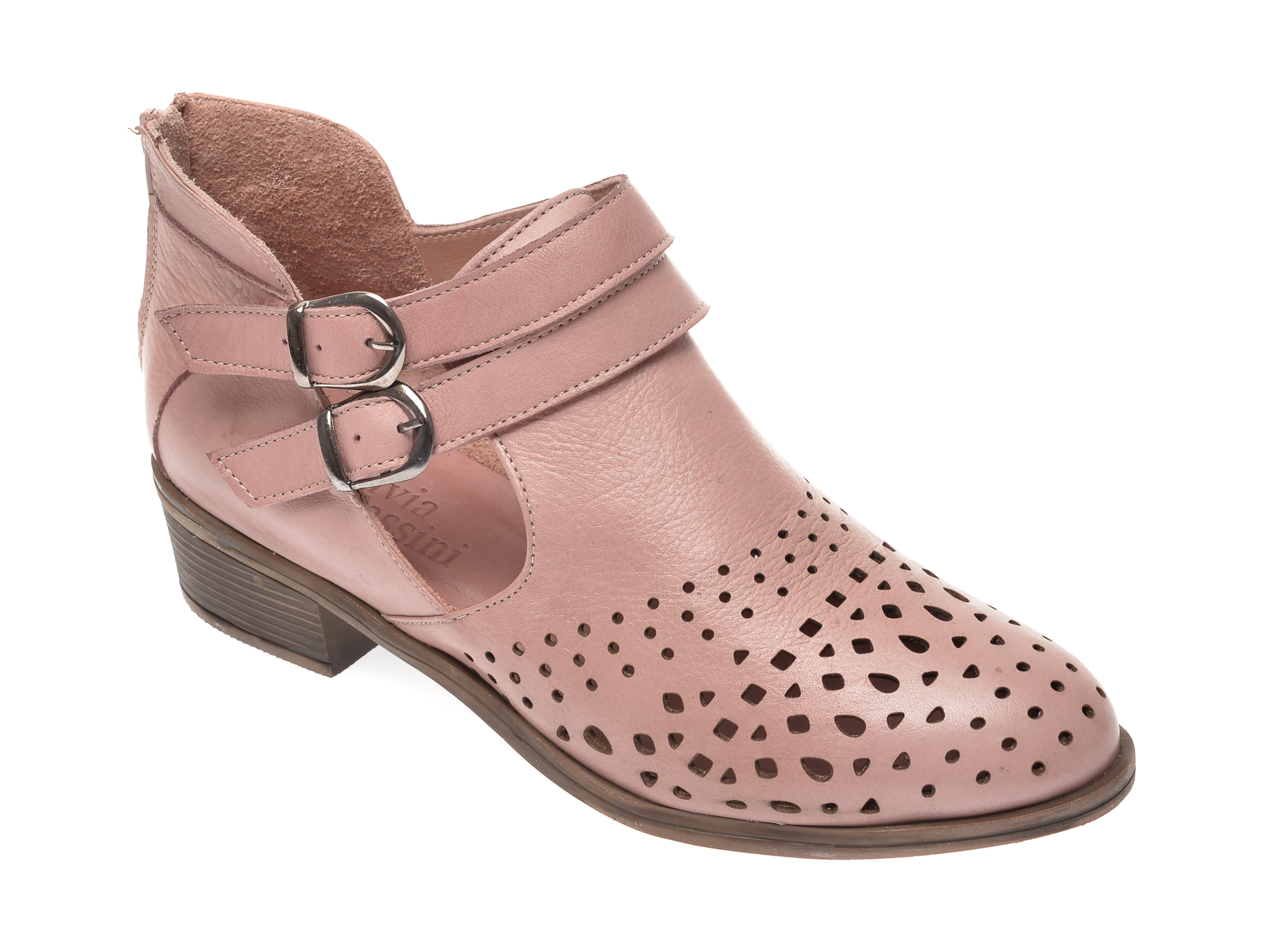 Pantofi FLAVIA PASSINI roz, B004, din piele naturala imagine
