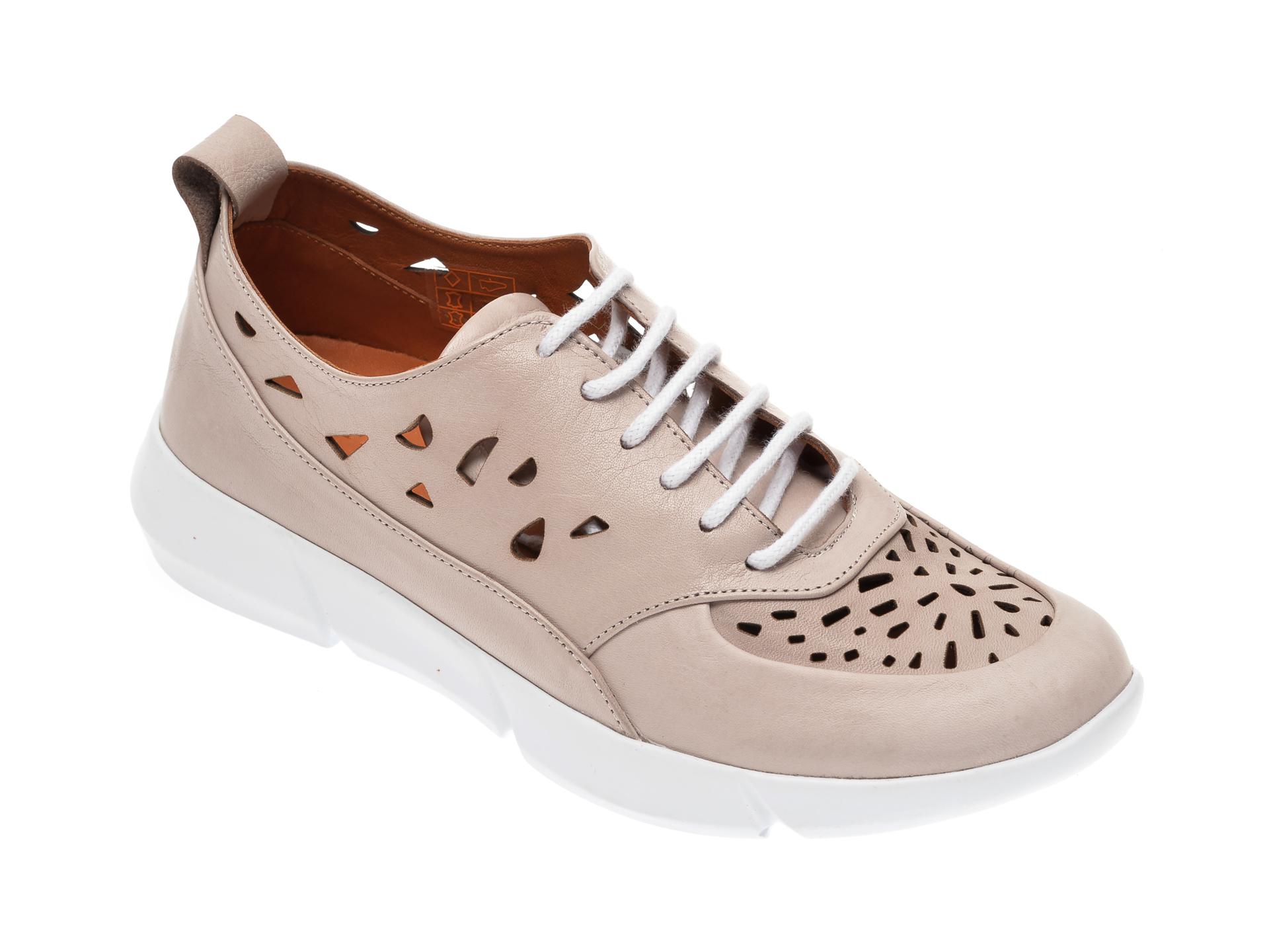 Pantofi FLAVIA PASSINI taupe, 283661, din piele naturala
