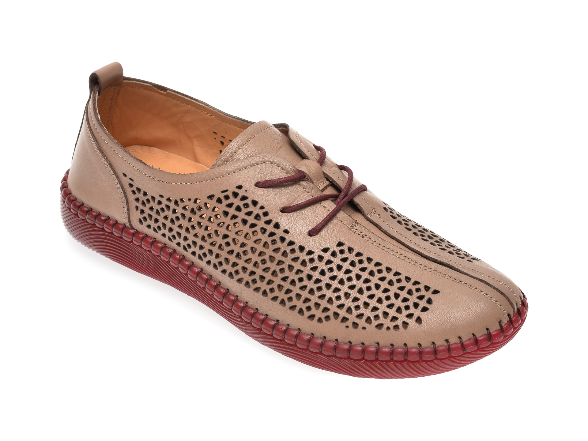 Pantofi FLAVIA PASSINI taupe, 8179000, din piele naturala