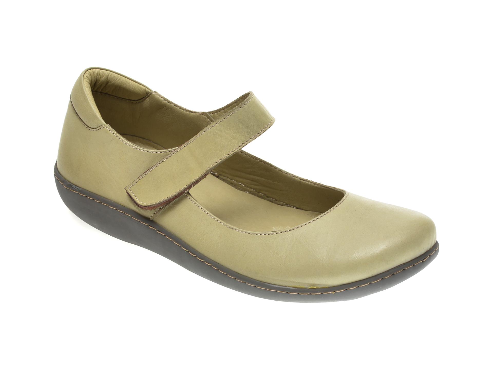Pantofi FLAVIA PASSINI verzi, 1038, din piele naturala imagine